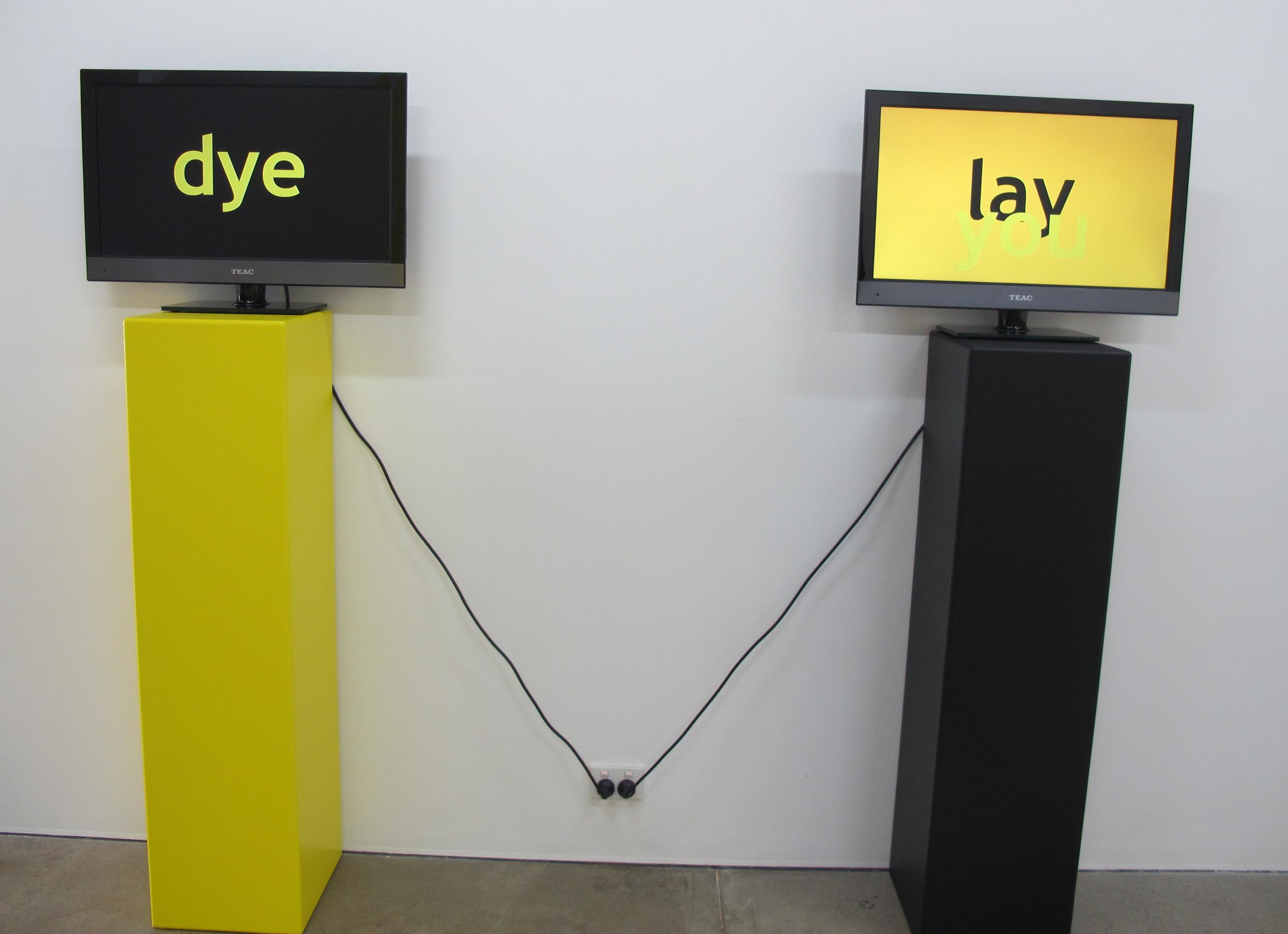 Michael Carolan,  try me and hey you,  2012, HD video and soundscape, installation view