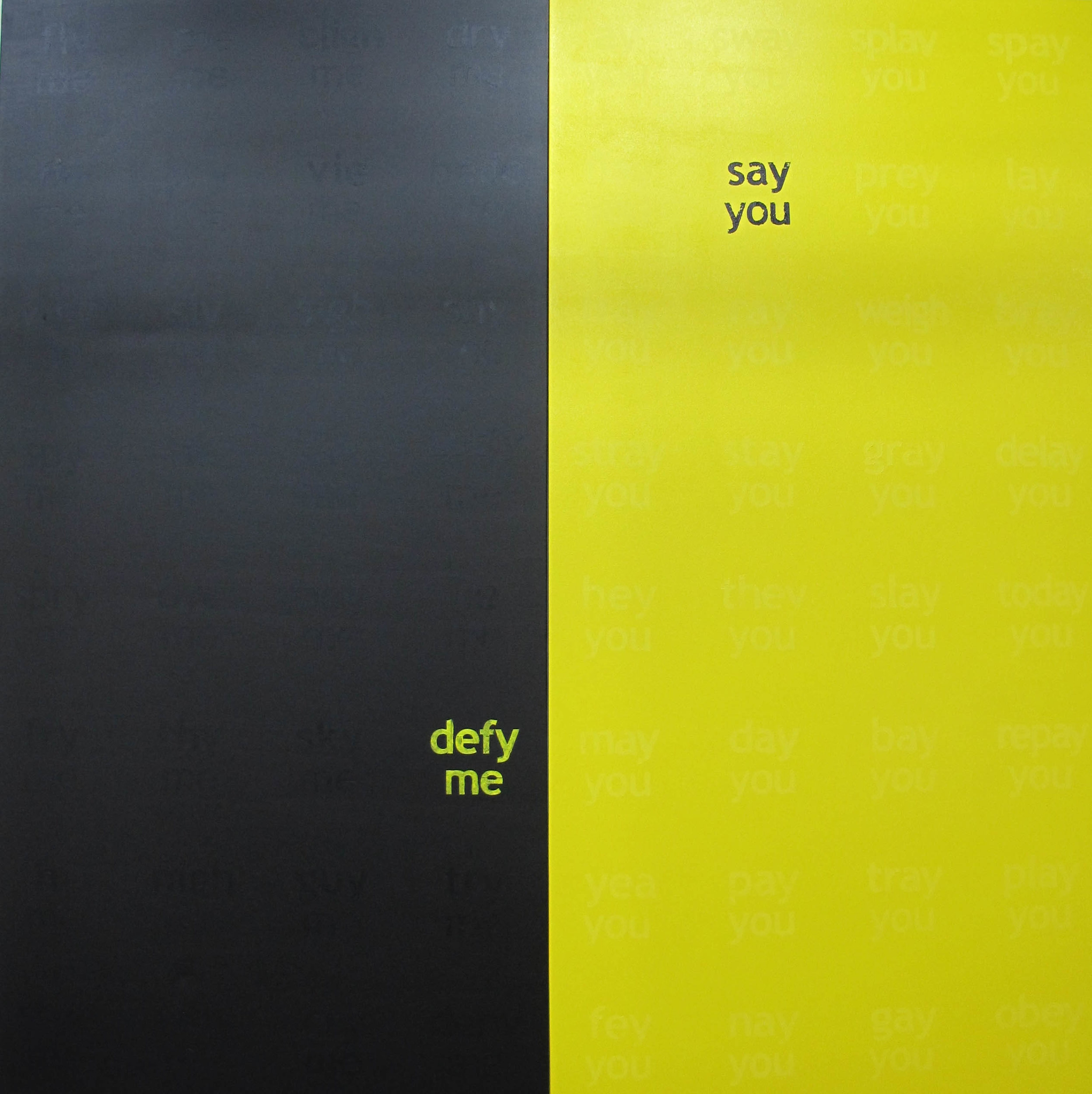 Michael Carolan,  deny me, say you , 2012, acrylic on canvas