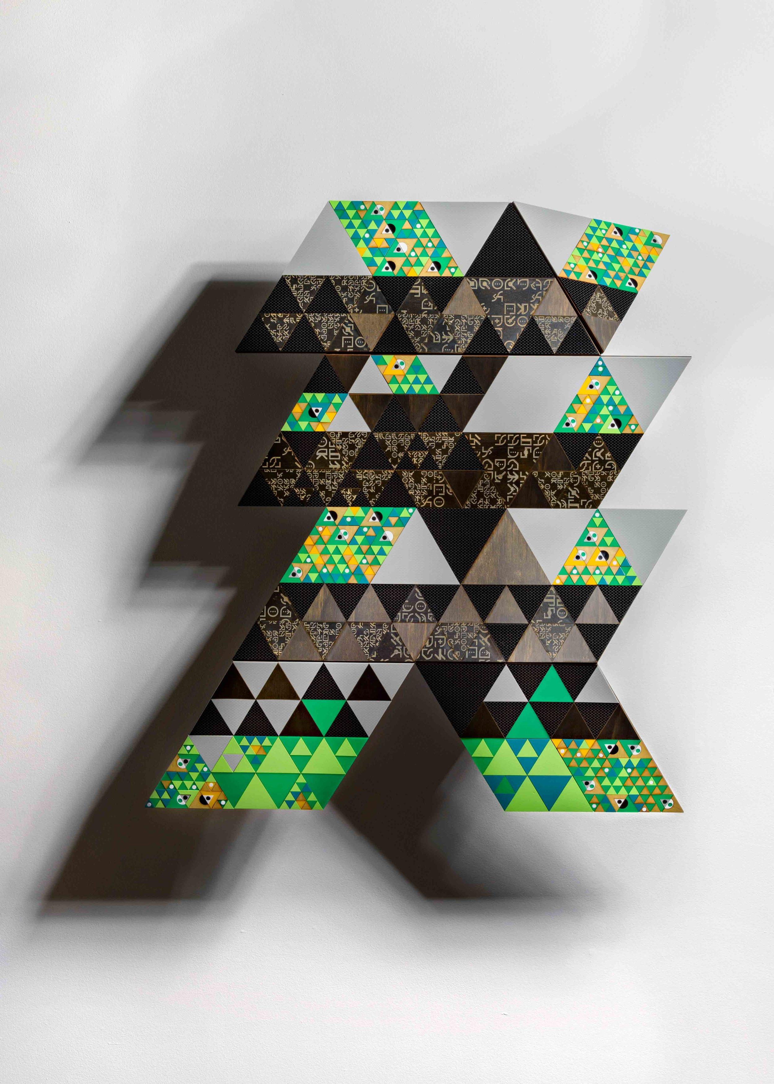 Troy Innocent,  Decision Tree , 2016, Laser cut plywood, 64 x 88 x 12cm