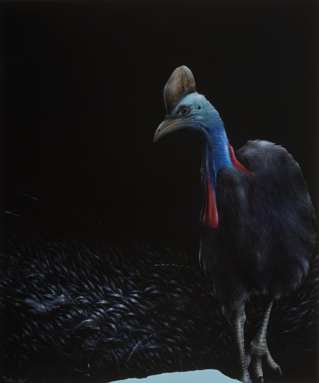 Jarek Wojcik, Other Side 2, 2017, acrylic on linen, 60 x 50 cm