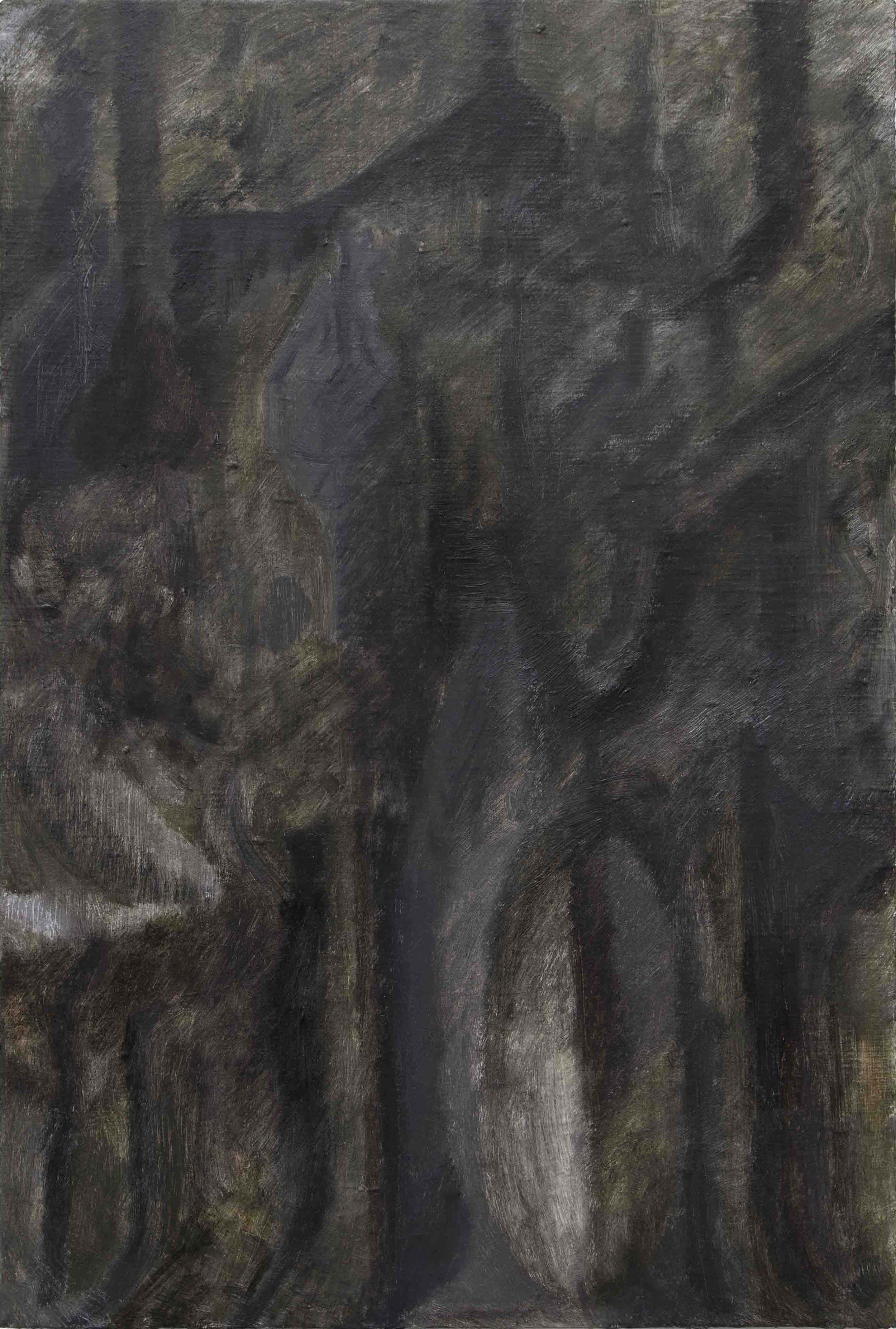 Tim Buckovic, Atelier, 2017, oil on linen, 46 x 30.5 cm