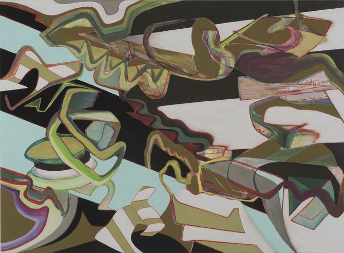 David Palliser, Optional Symmetry, 2008, 112 x 153cm
