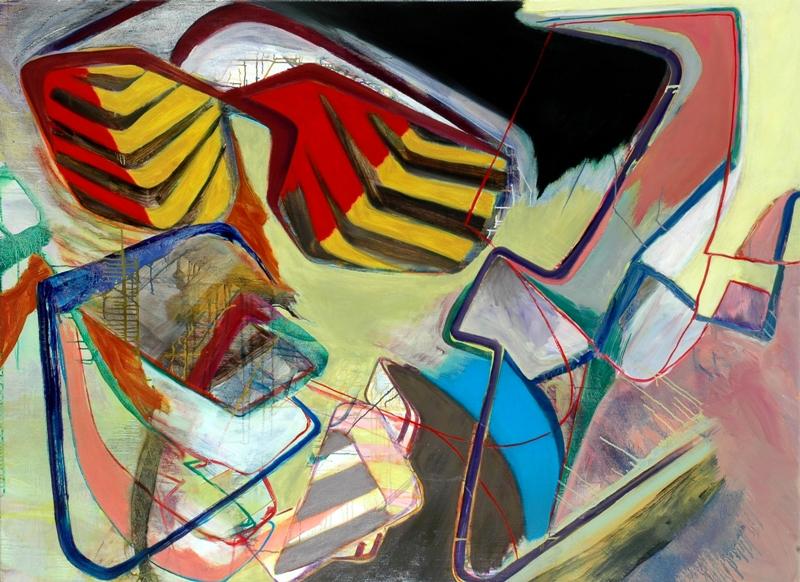 David Palliser, Subjects in Orbit, 2008, 112 x 153cm