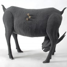 Julia Robinson, Untitled (2), 2009- 2010, flywire, fibreglass, fabric, fixings, thread, cardboard, plaster, timber