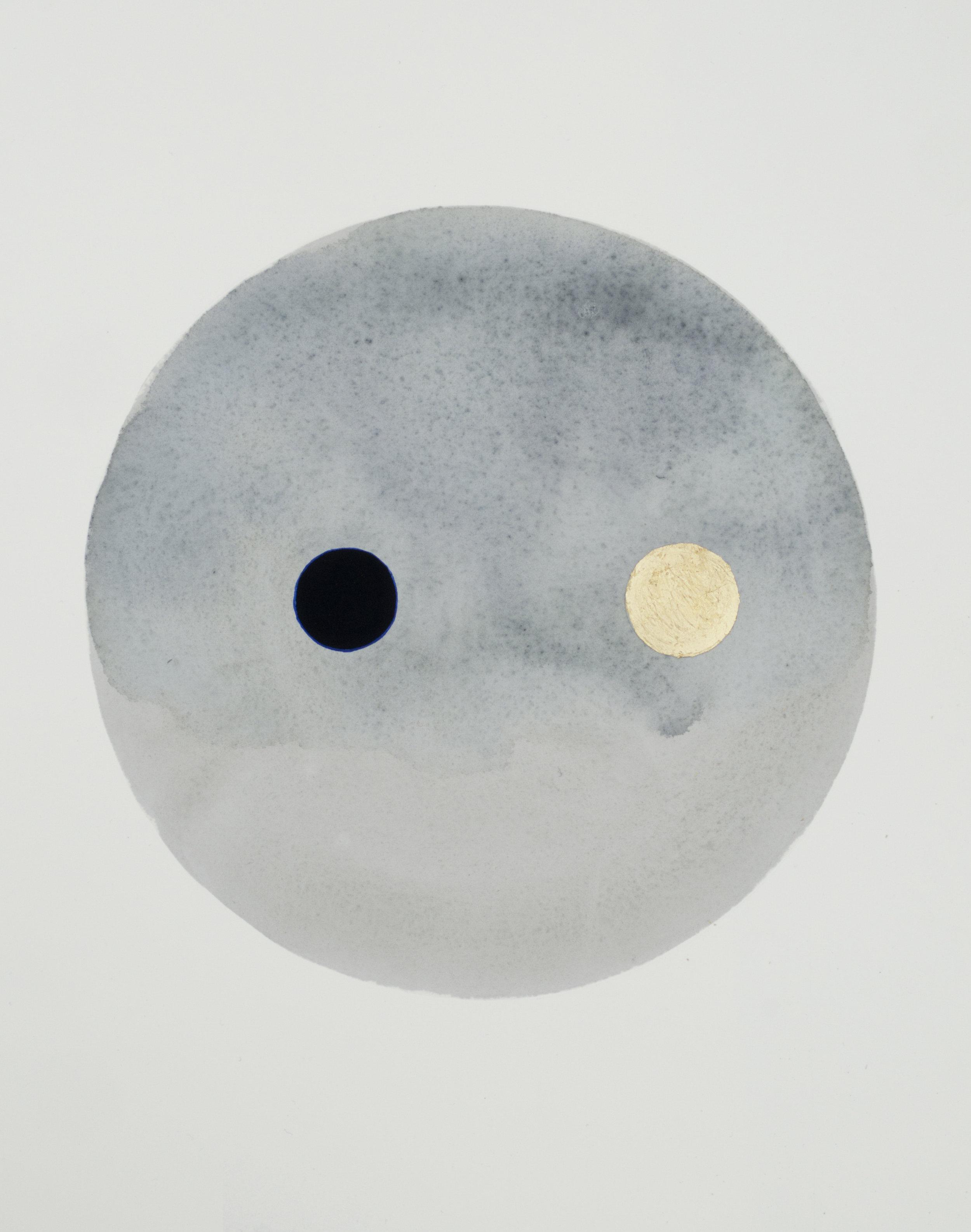 Simon MacEwan, Transit 10, 2017, Watercolour, Gouache and 23k Gold Leaf on Paper