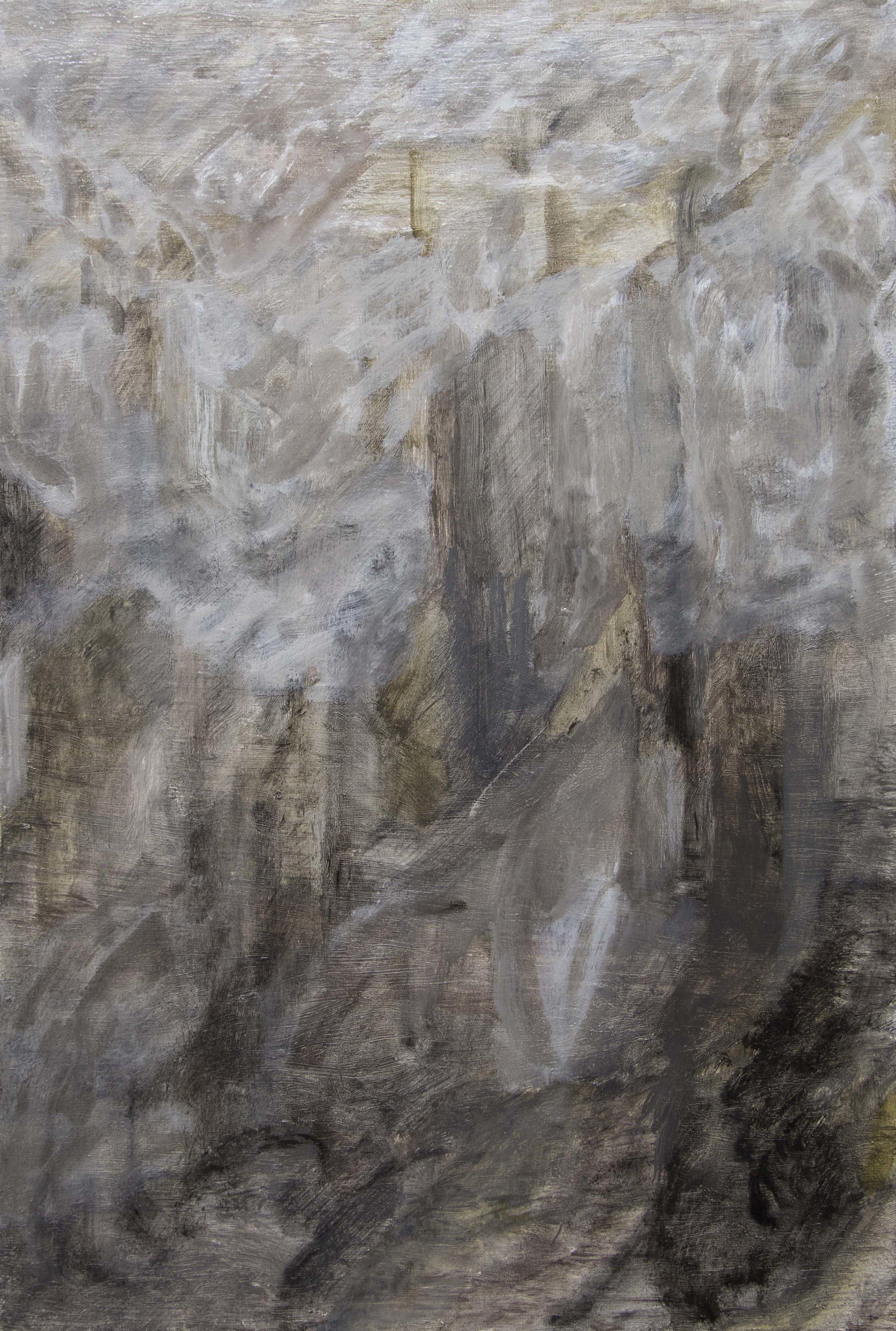 Tim Buckovic, East, 2017, oil on linen, 46 x 30.5 cm