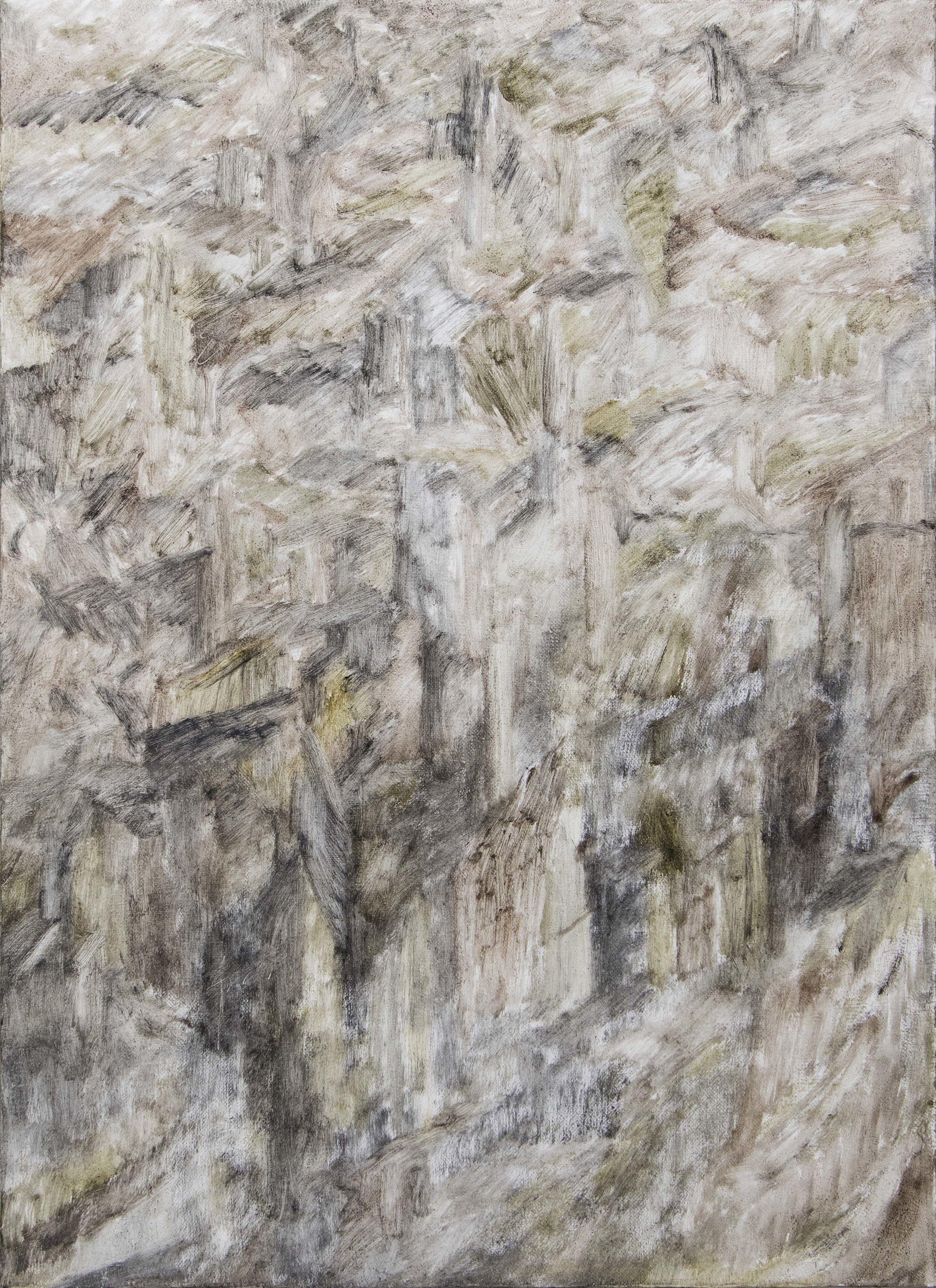 Tim Buckovic, Field on fine red dust , 2017, oil on linen 56 x 41 cm