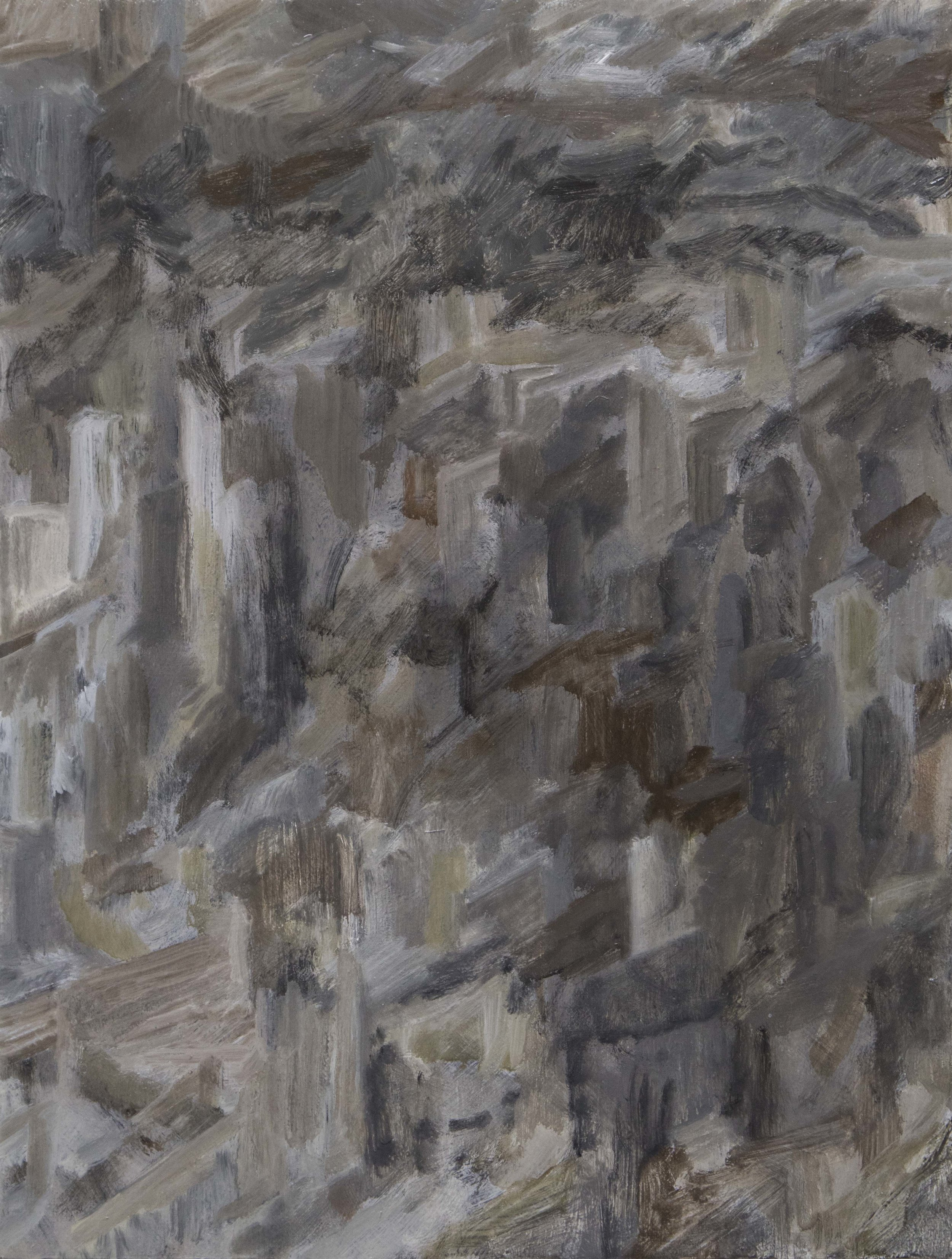 Tim Buckovic, Concrete 444, , 2017, oil on linen, 41 x 31 cm