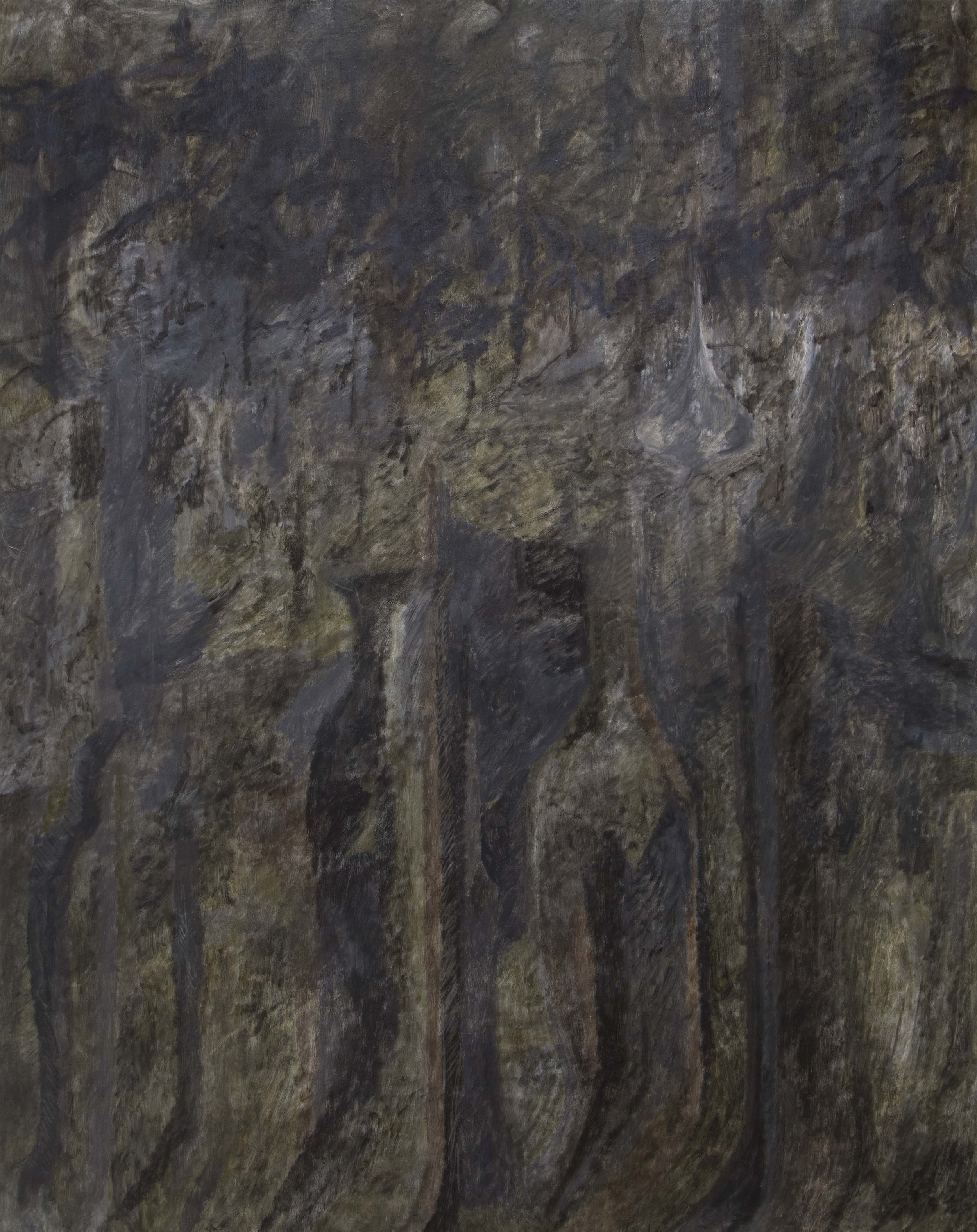 Tim Buckovic, Black untitled, 2017, oil on linen, 190 x 150 cm
