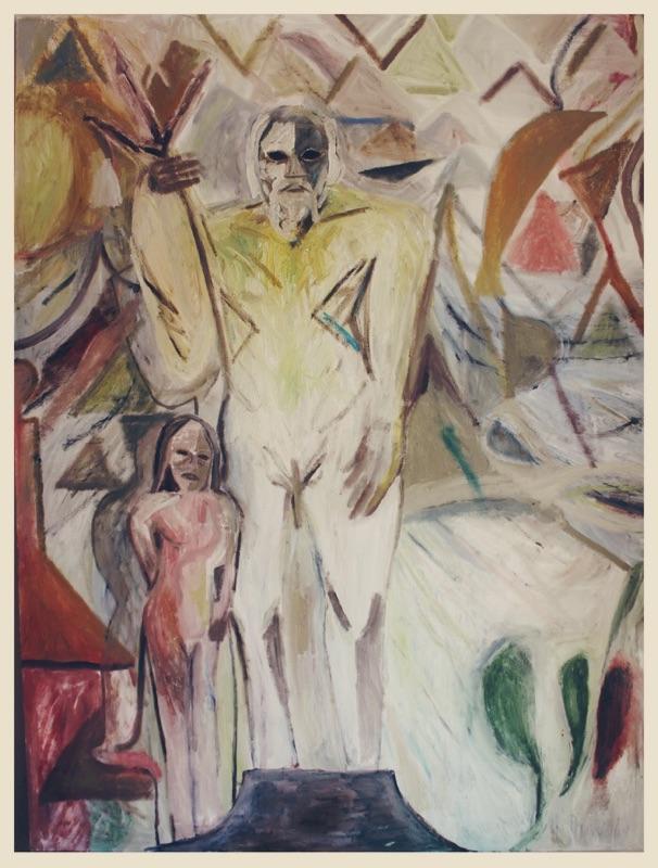 Justin Williams,Devola, 2017, oil, pigment, enamel, sand on canvas, 203 x 152cm