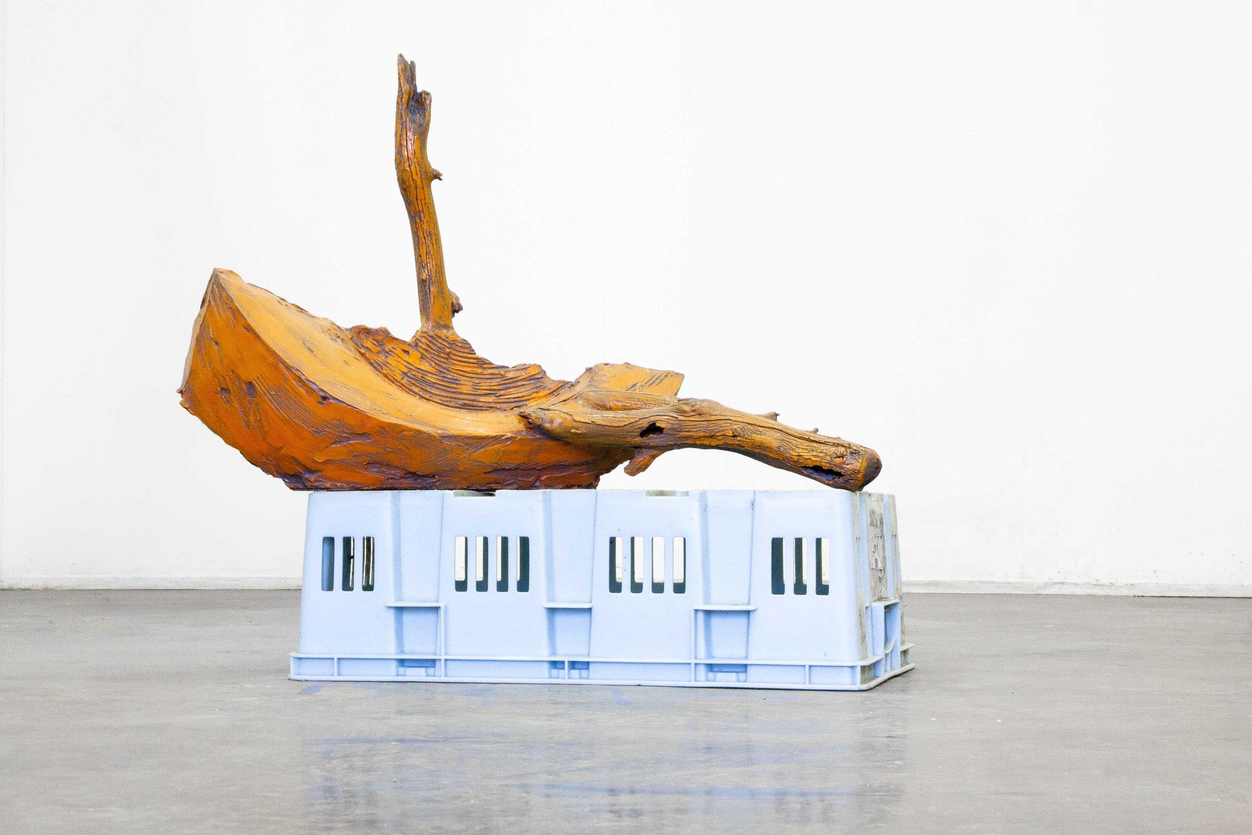 Alex Lyne, voyage,2016, plaster, wood, plastic and automotive paint,64 x 70 x 40cm