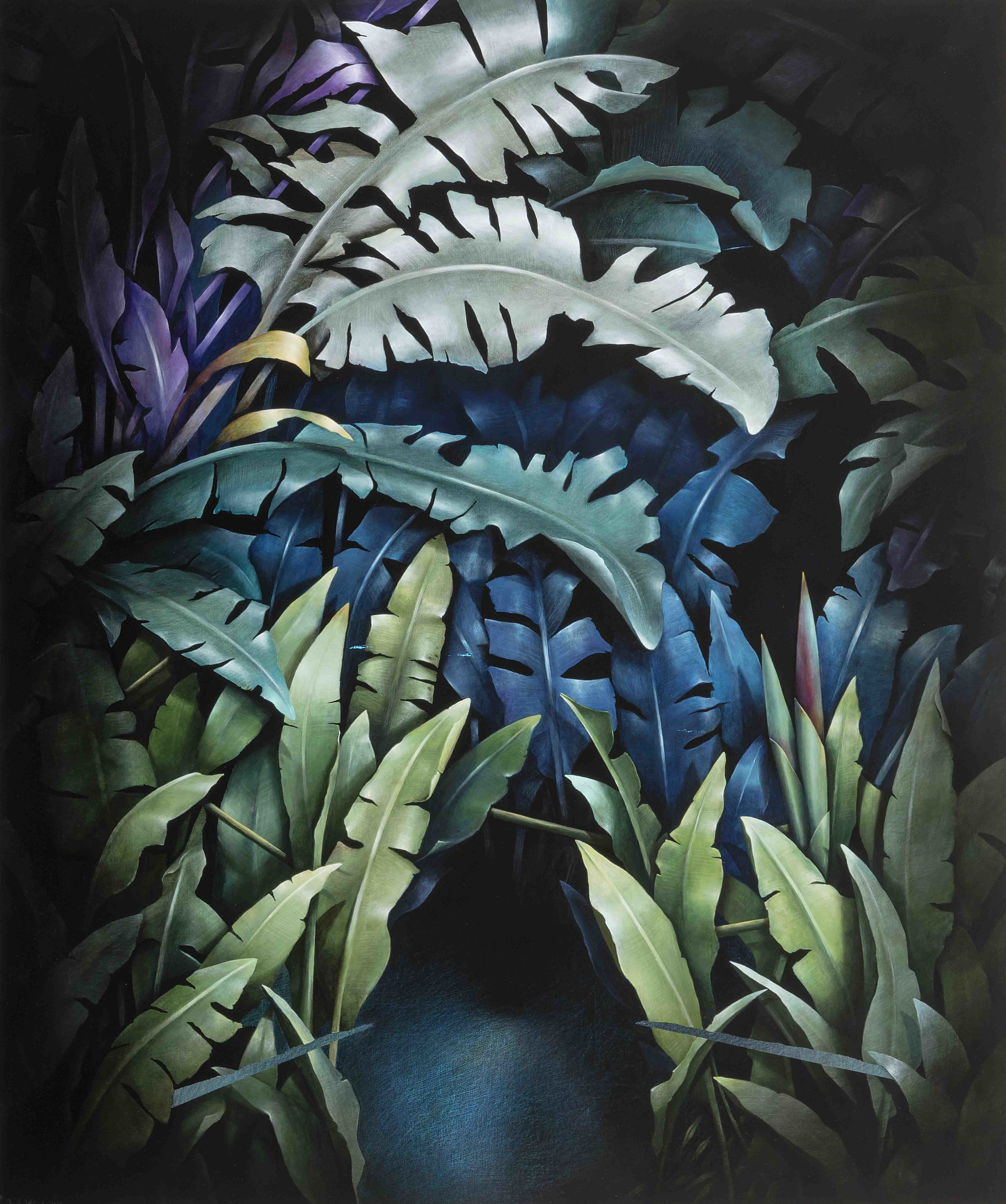 Garden Piece (scene two) , 2017,acrylic on linen,122 x 102 cm