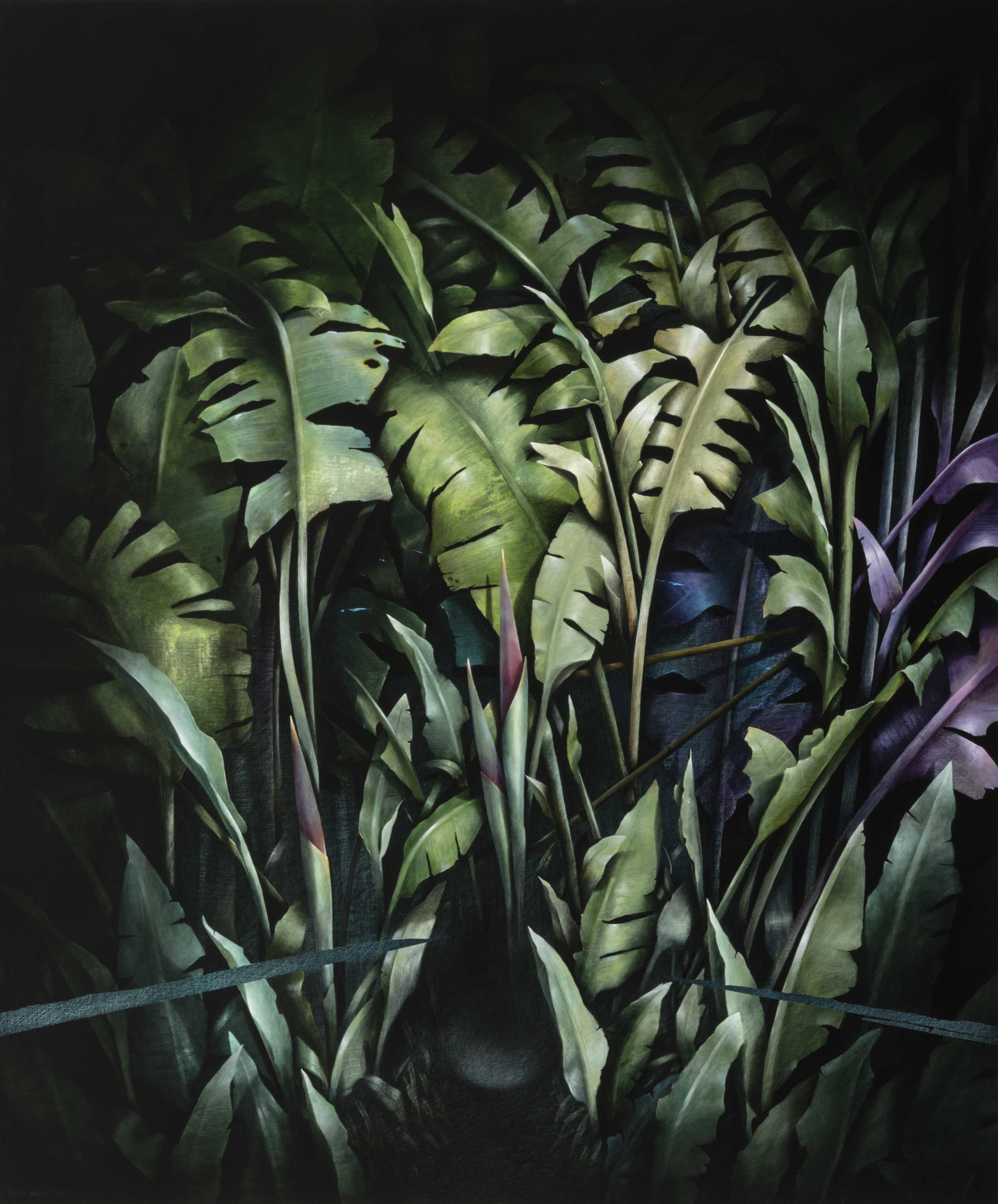 Garden Piece (scene one) , 2017, acrylic on linen, 122 x 102 cm