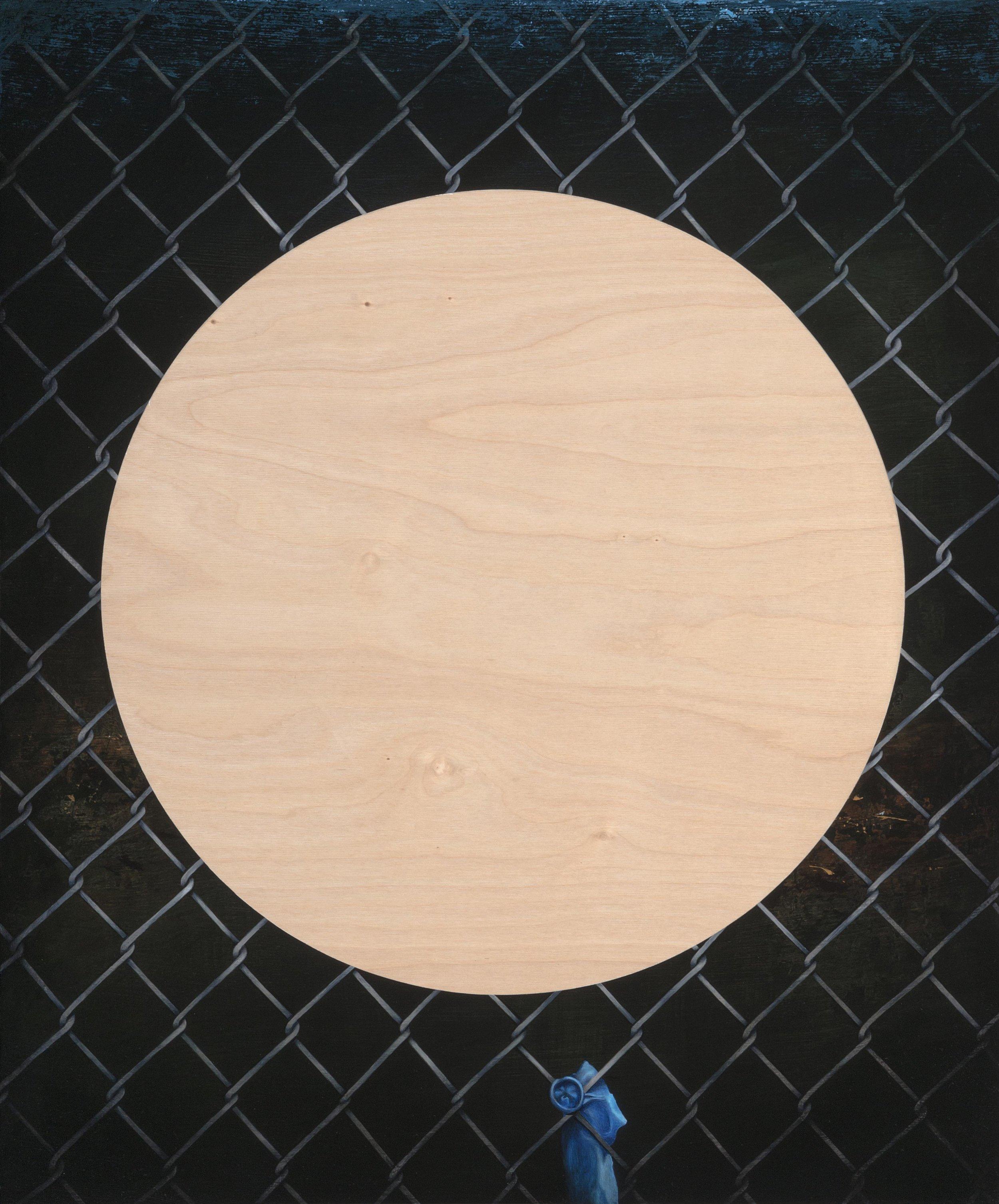 Playground, 2016,acrylic on wood, 60 x 50 cm