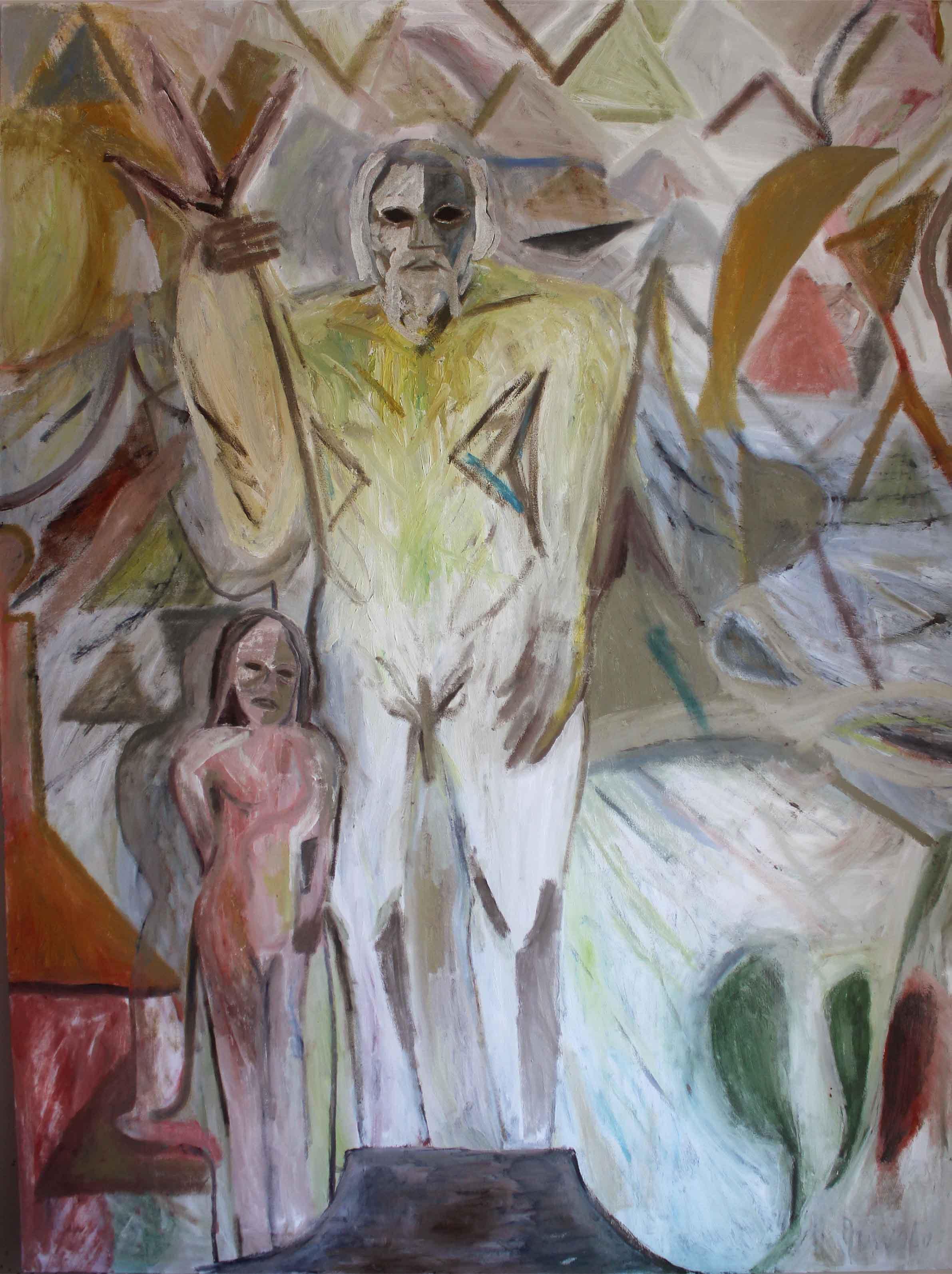 Justin Williams, Devola, 2017, oil, pigment, sand, enamel on canvas, 152 x 203 cm .jpg