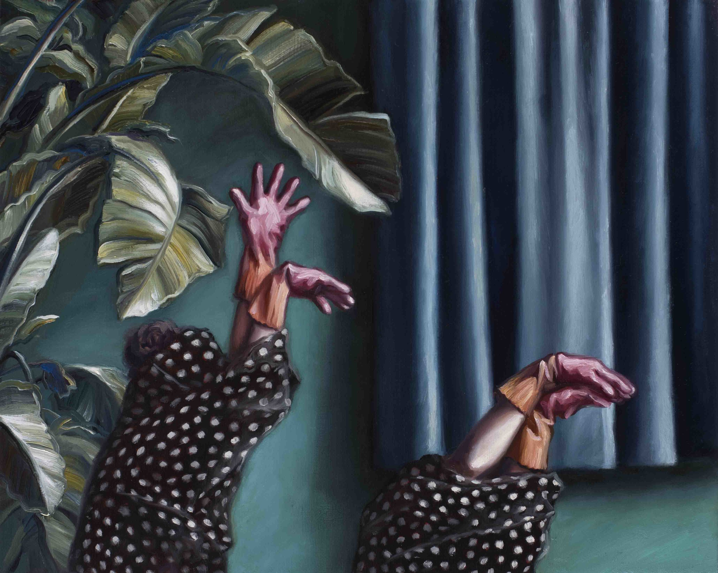 Amber Koroluk-Stephenson, The Hunt, 2017, oil on linen, 40 x 50cm