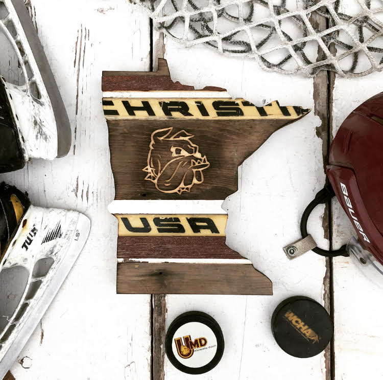 UMD Hockey State - The UMD Bulldog Hockey State is now available in two sizes for customization! Order for the ultimate Bulldog fan in your life!