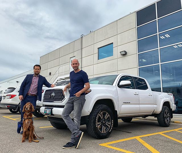 @king__of__cars__  was super excited to help out one of his best friends for many years  @pointprovenkennels who is picking up his brand new2019 Toyota Tacoma .  #crowntoyota #dilawrigroup #teamfouiautomotive #topteam #topsellers #vipexperience #lasalleinsurance