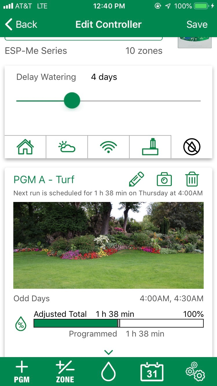 """Irrigation – The average rainfall in the Oklahoma City area in the last 7 days is over 2 ½"""". All the Mesonet sites in the area are all reporting ample soil moisture. Please conserve water and leave your irrigation off or put it on a rain delay for the next 5-7 days. If you have subscribed to our Irrigation Management program with the Rainbird Wi-Fi Link, we have been delaying your irrigation the last few weeks based on rainfall and soil moisture measurements. During May your lawn and landscape needs 1 -1 ½"""" of moisture per week as temperatures start reaching into the 90s. Remember to always water based on need."""