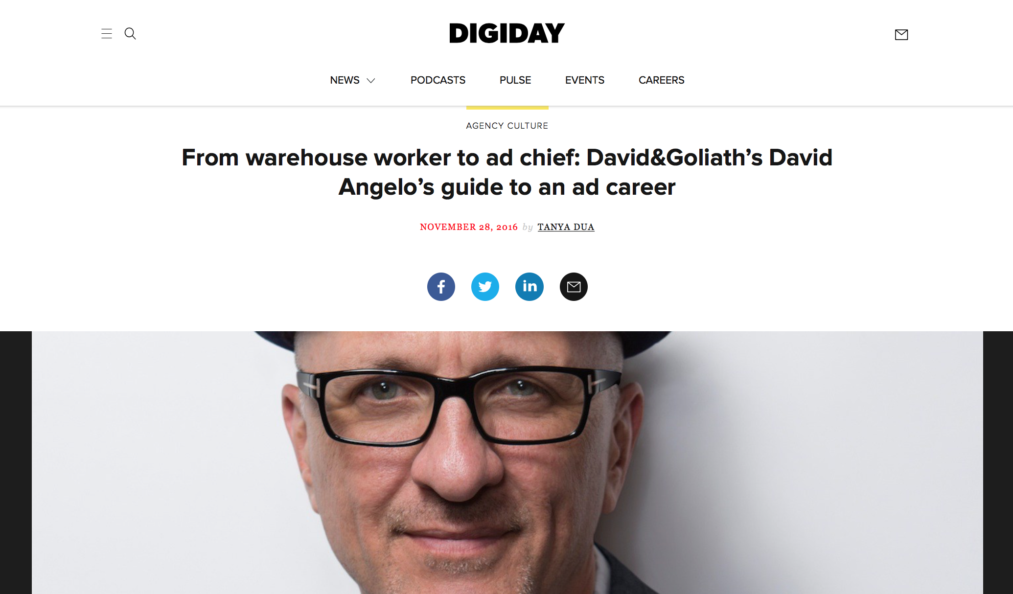 Digiday 'From Warehouse Worker to Ad Chief'