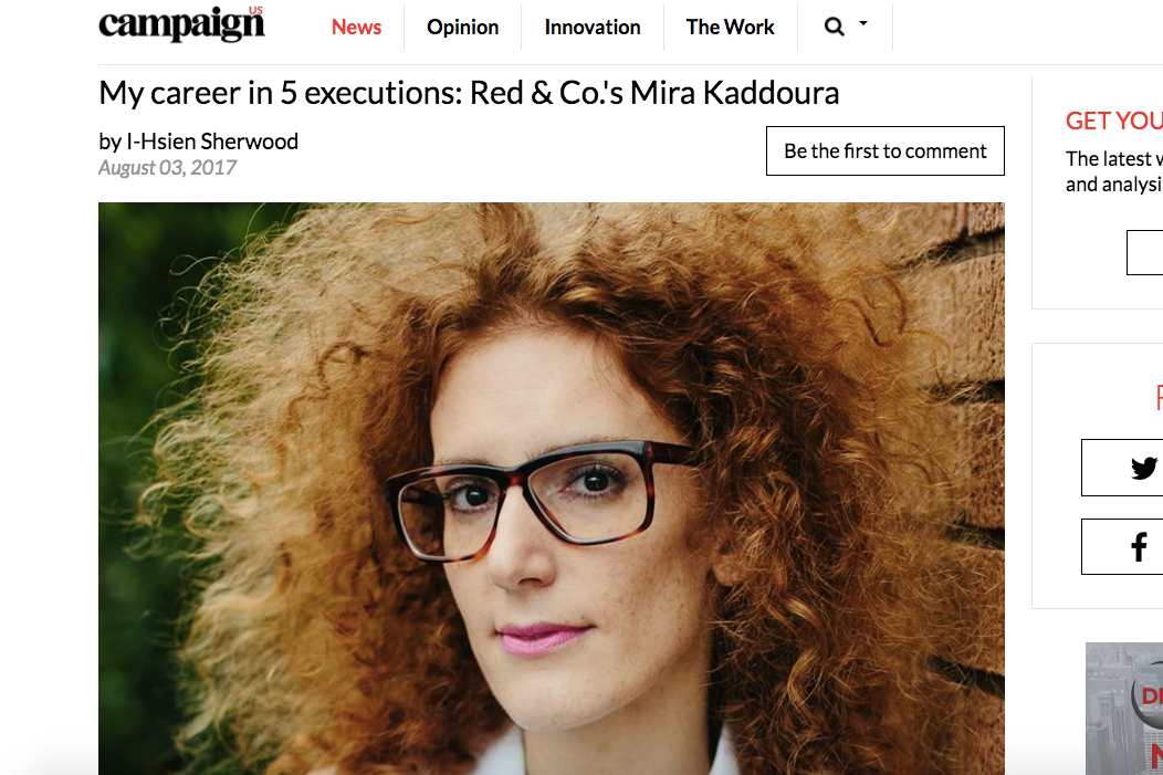 Campaign US: Red & Co.'s Mira Kaddoura on the 5 Campaigns that Influenced Her Career