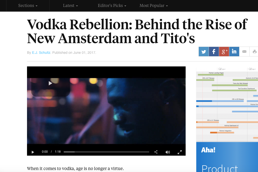 Ad Age: New Amsterdam Vodka's Rise