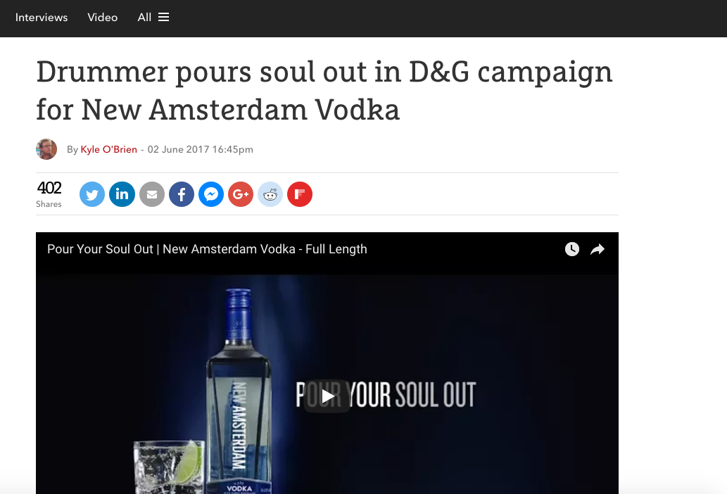 The Drum: 'Pour Your Soul Out' Campaign for New Amsterdam Vodka