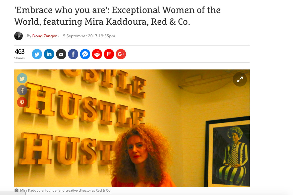 The Drum: Exceptional Women of the World, featuring Mira Kaddoura, Red & Co.