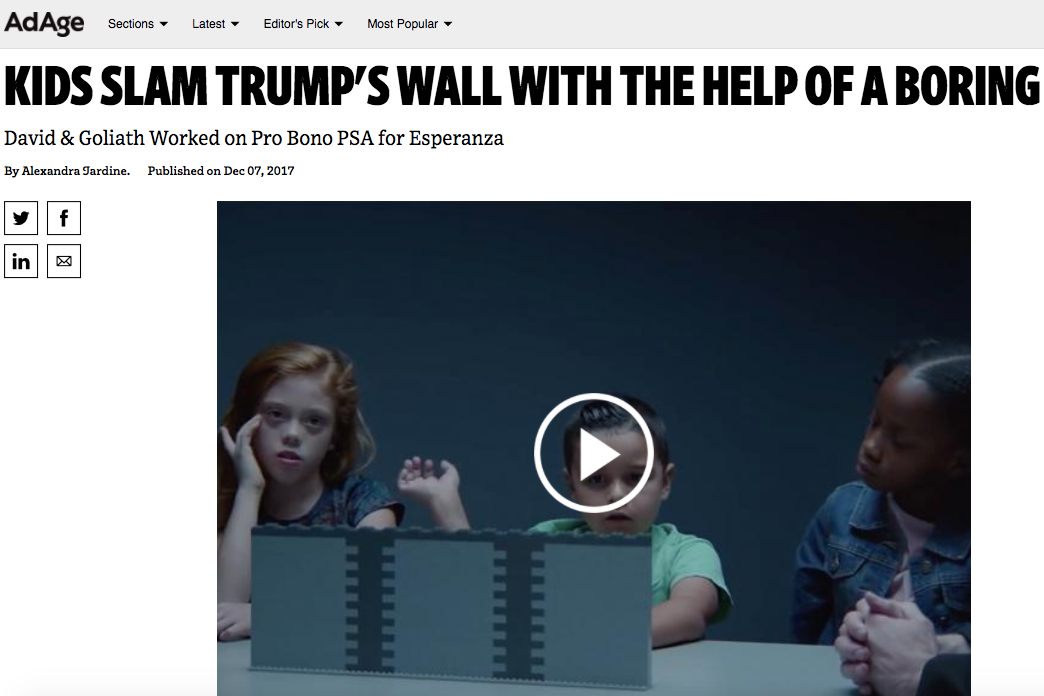 Creativity: Kids Slam Trump's Wall with the Help of a Boring Toy