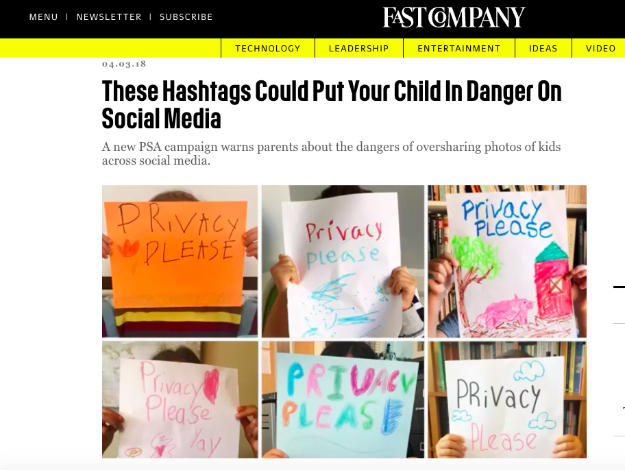 Fast Company: These Hashtags Could Put Your Child in Danger on Social Media