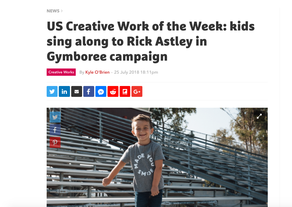 The Drum: US Creative Work of the Week - Gymboree's Made You Smile