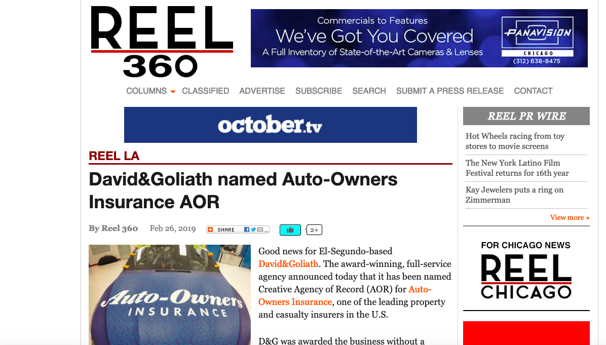 D&G Named AOR for Auto-Owners Insurance