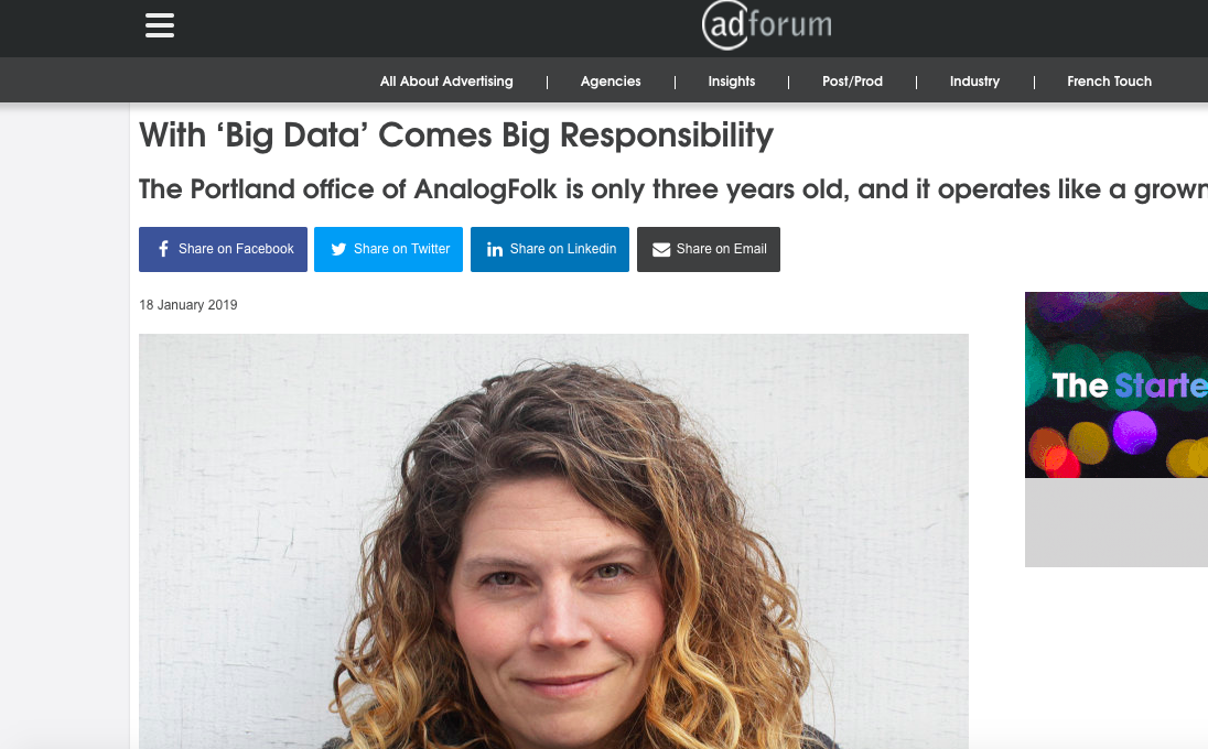 AdForum Q&A with AnalogFolk's Karen Staughton