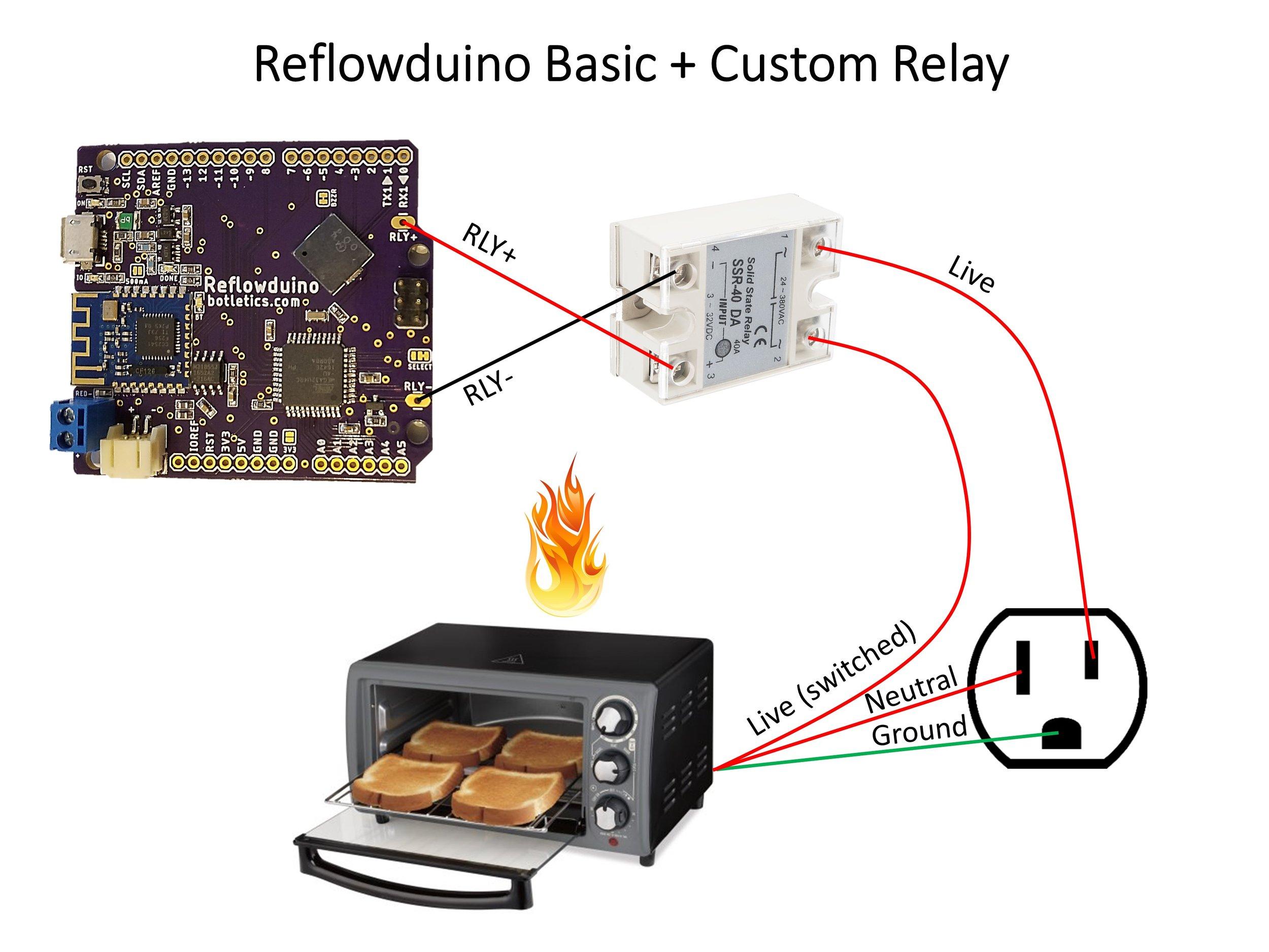 Reflowduino Basic Wiring Diagram