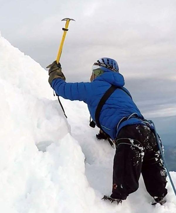 Hari on Mt. Blanc
