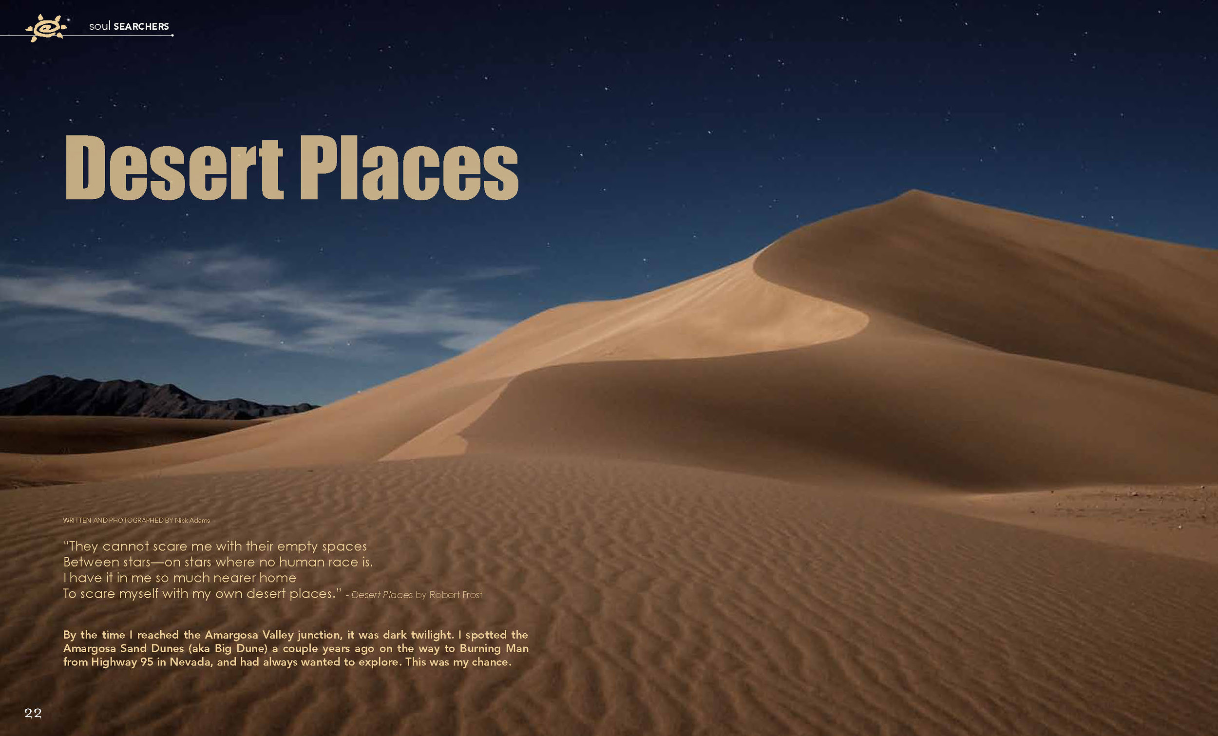 Amargosa Dunes by Moonlight