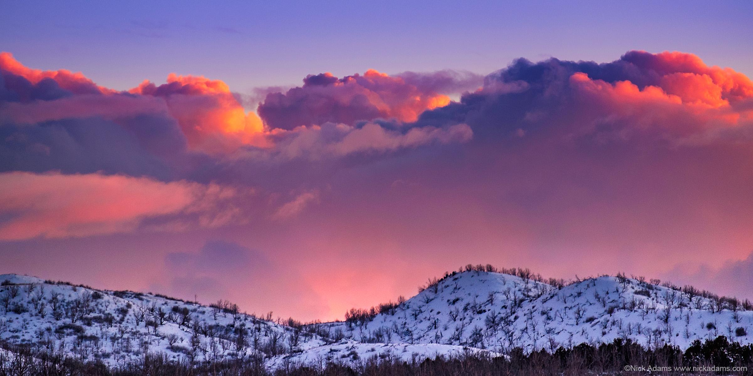 Snowy Sunset in Utah