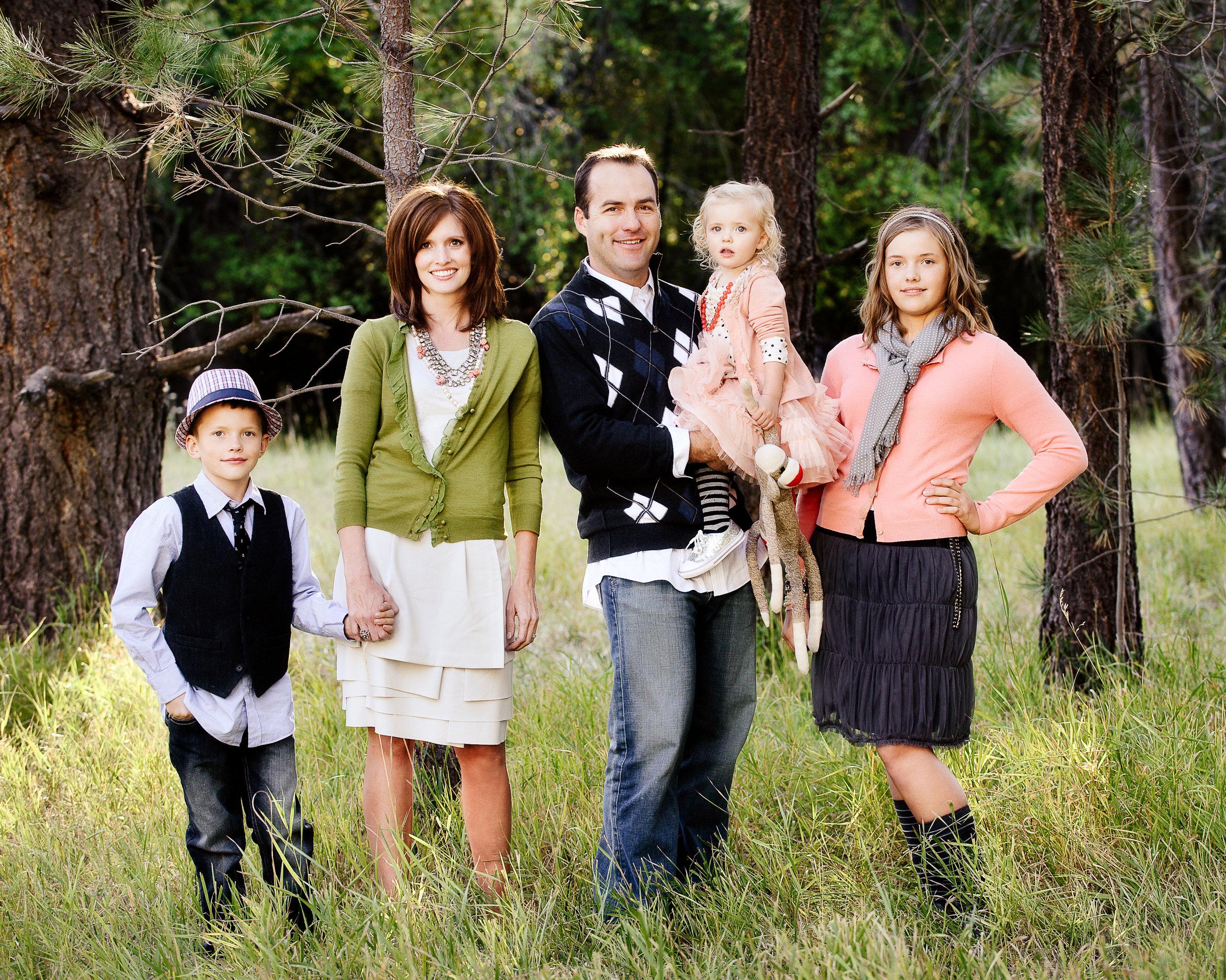 Family portrait on location
