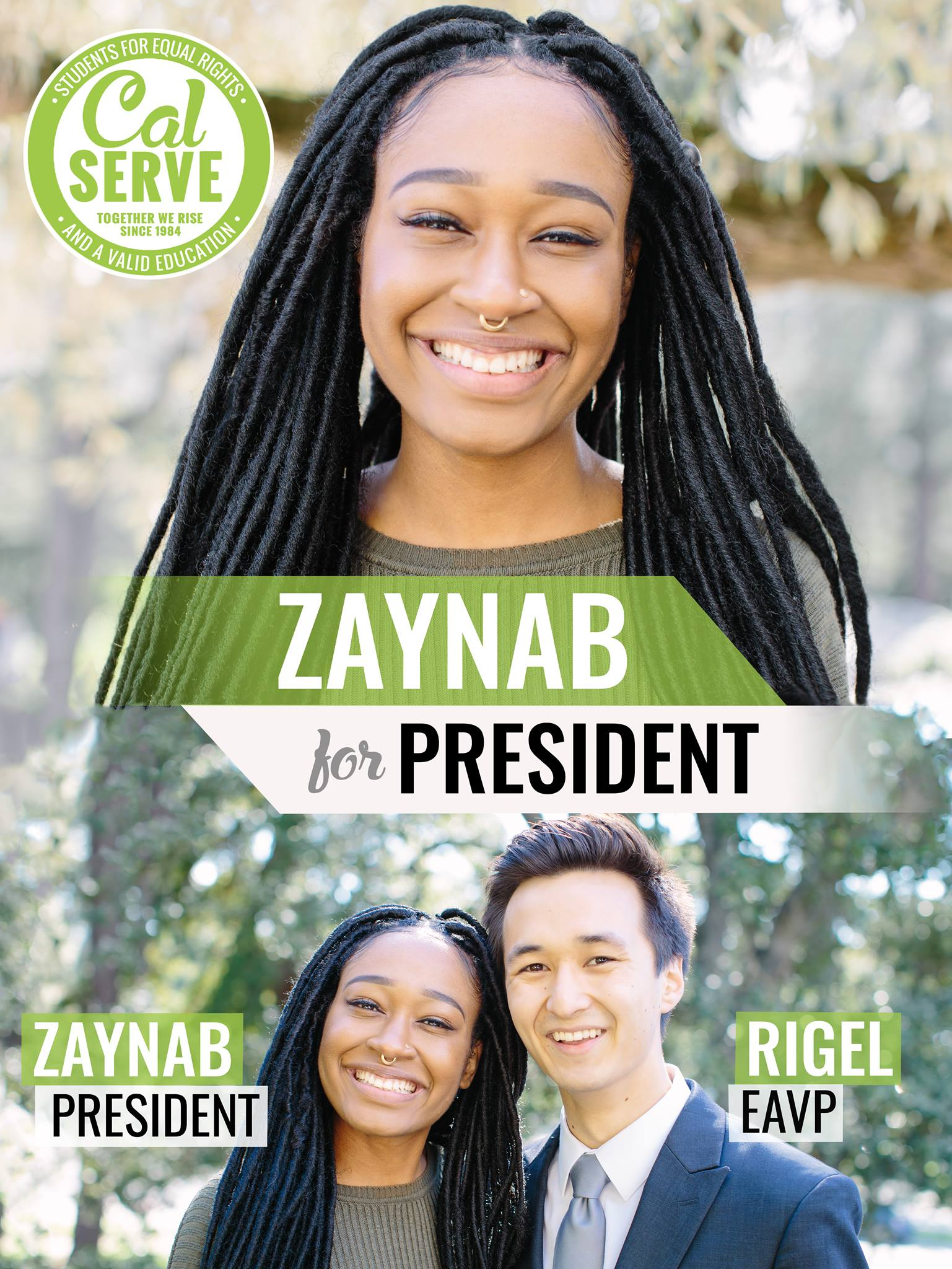 Vote for Zaynab for ASUC President!