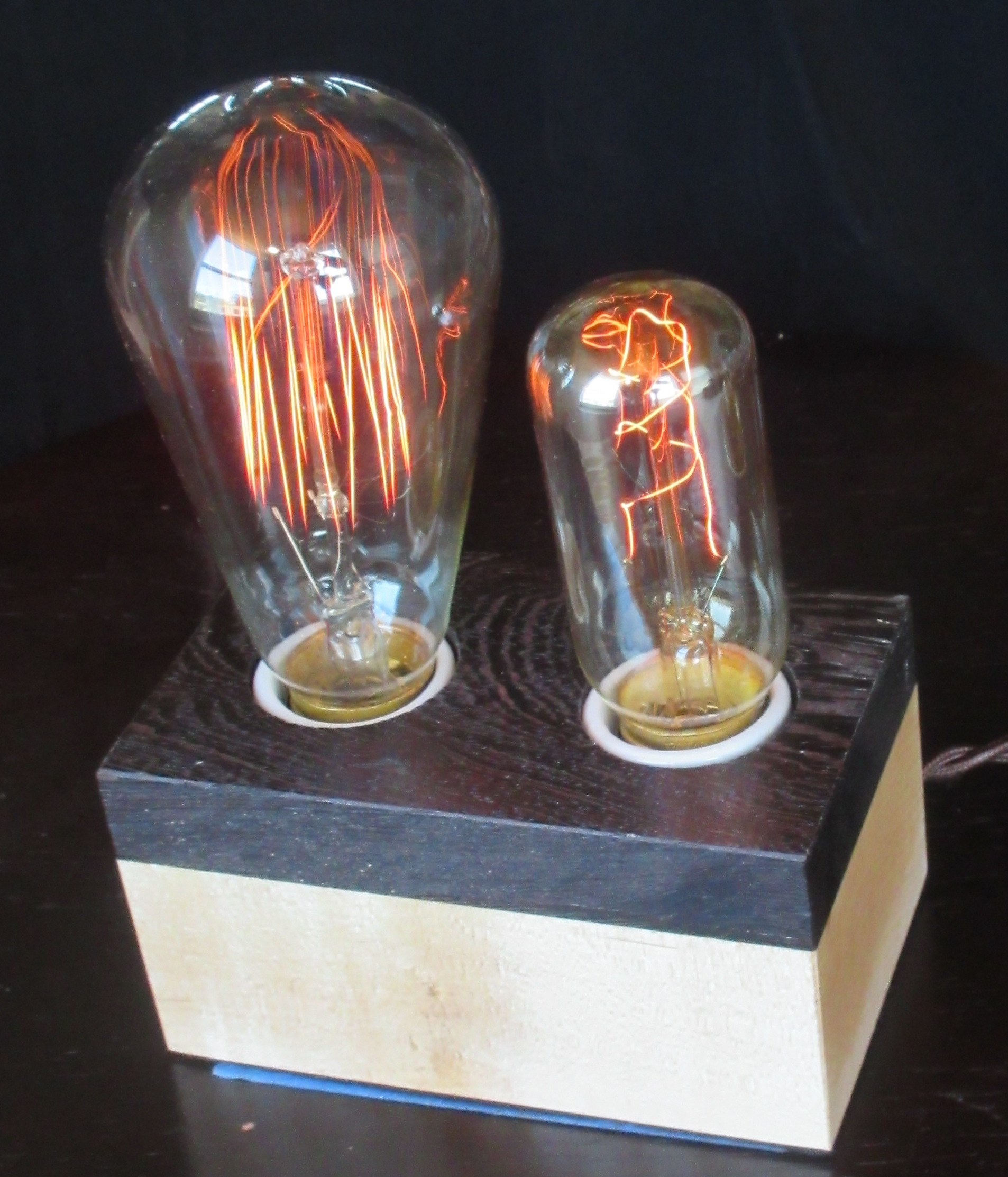 Wenge and Maple - 2 lamps