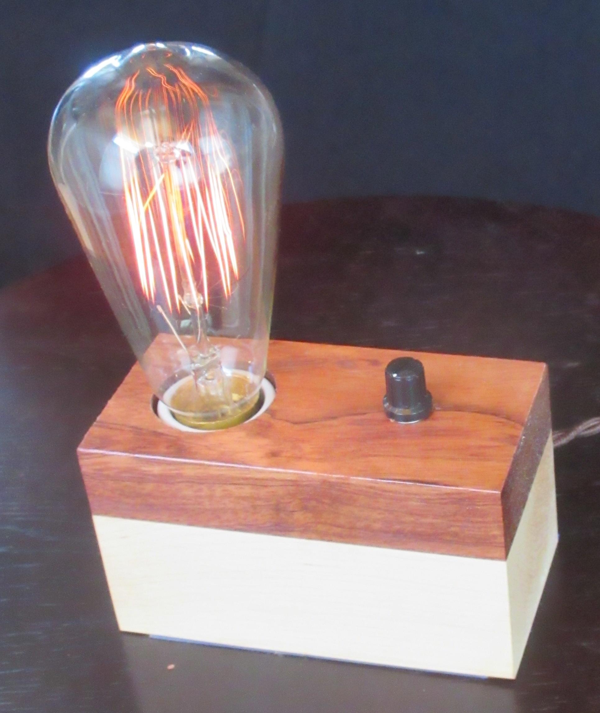 Bubinga and Maple - 1 lamp