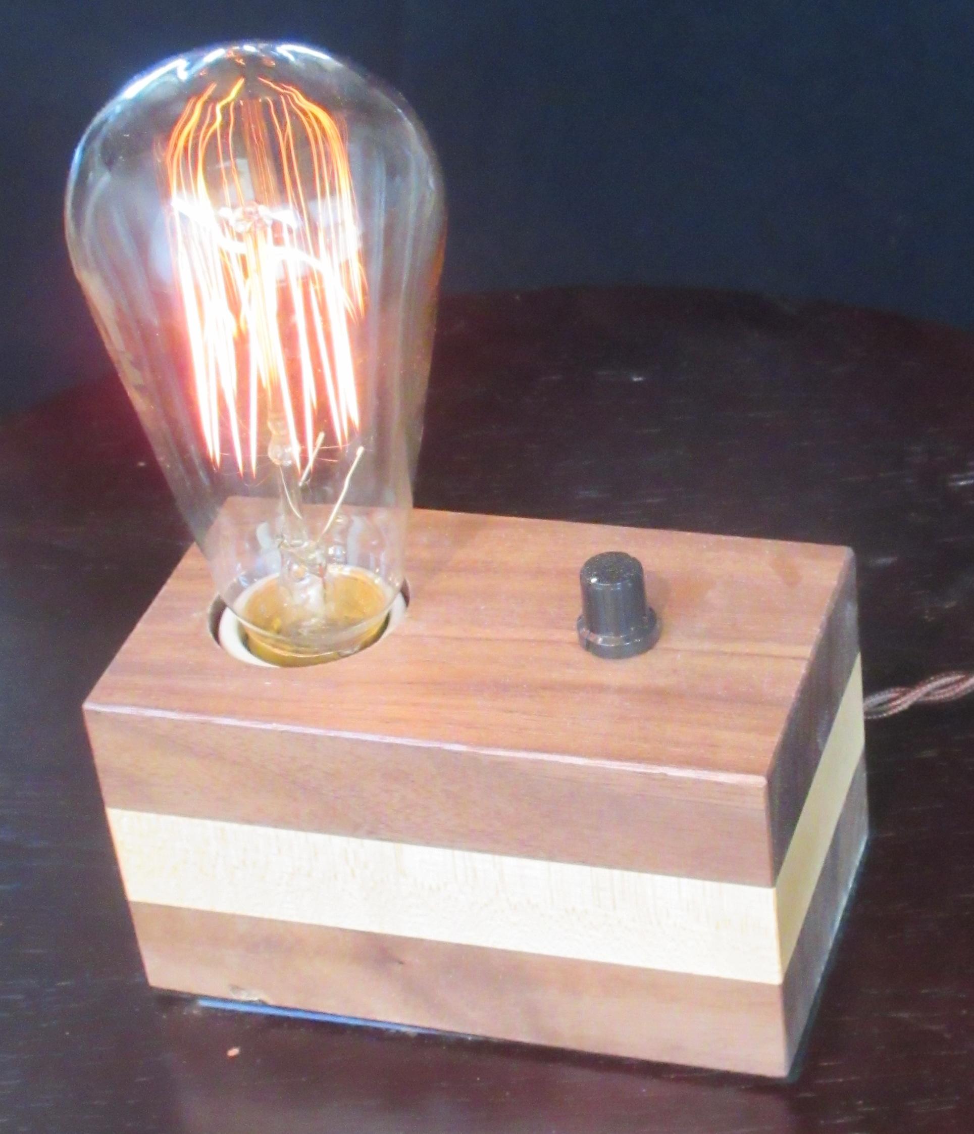 Walnut with Horizontal Maple Stripe - 1 lamp