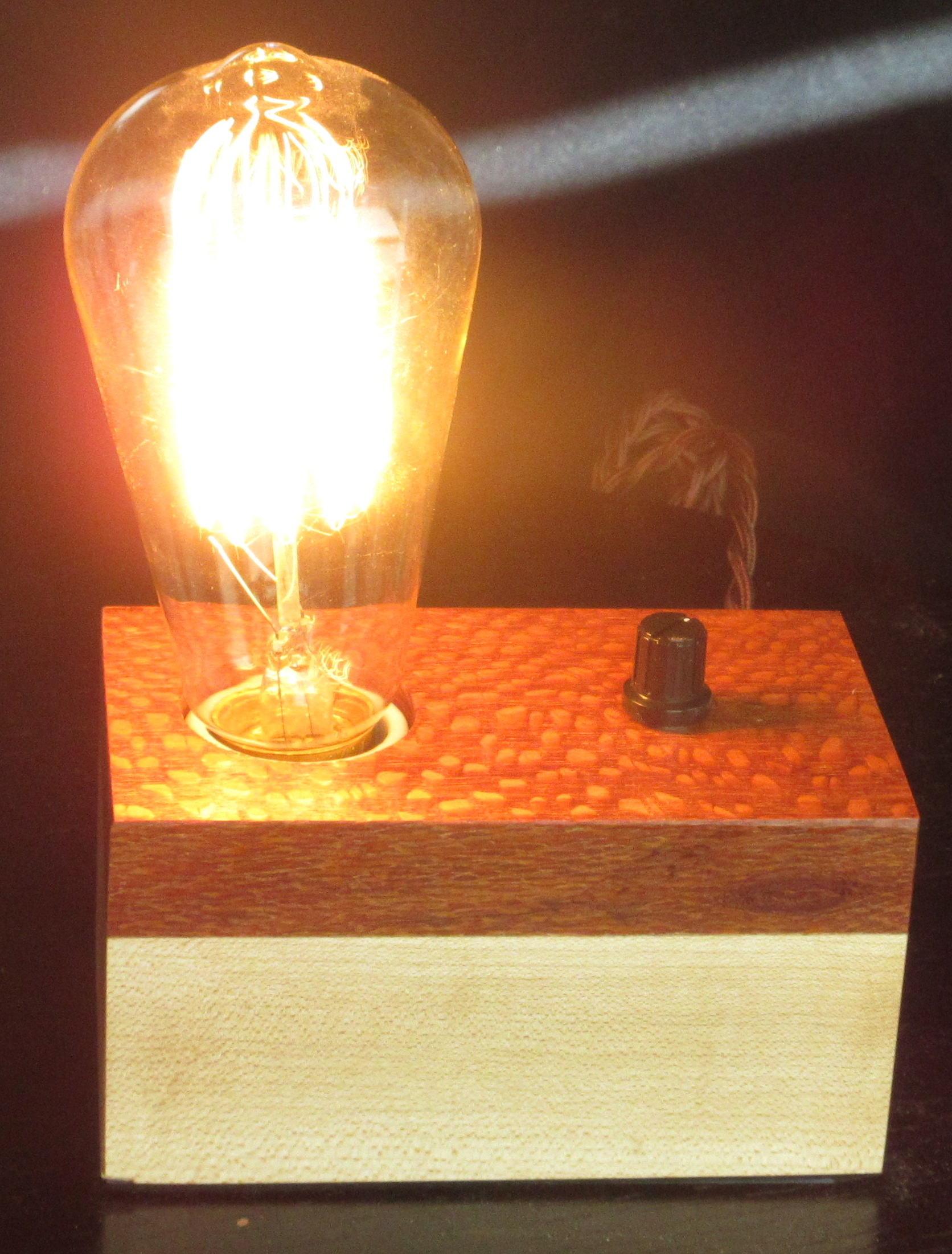 Lacewood and Maple - 1 lamp