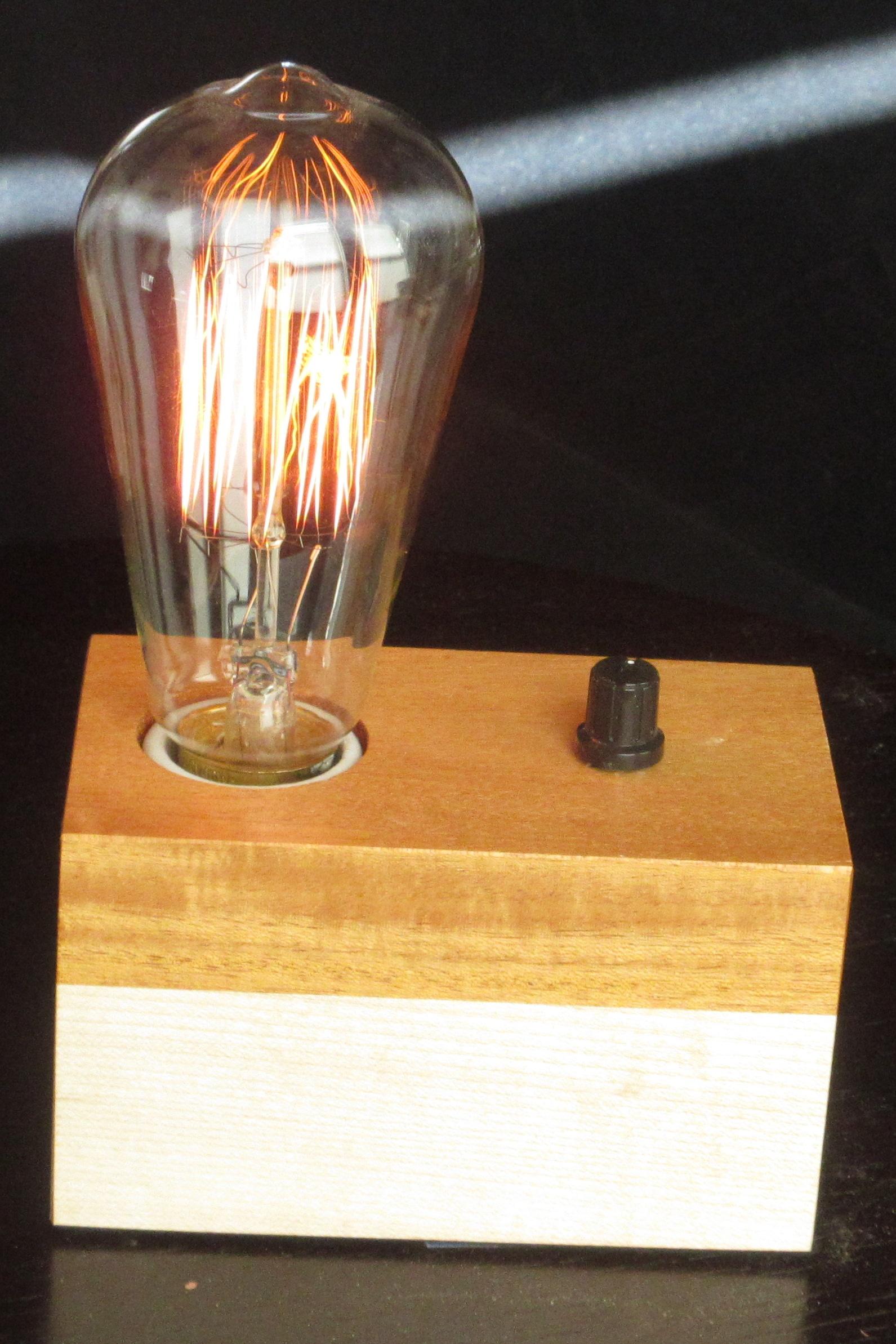 Mahogany and Maple - 1 lamp
