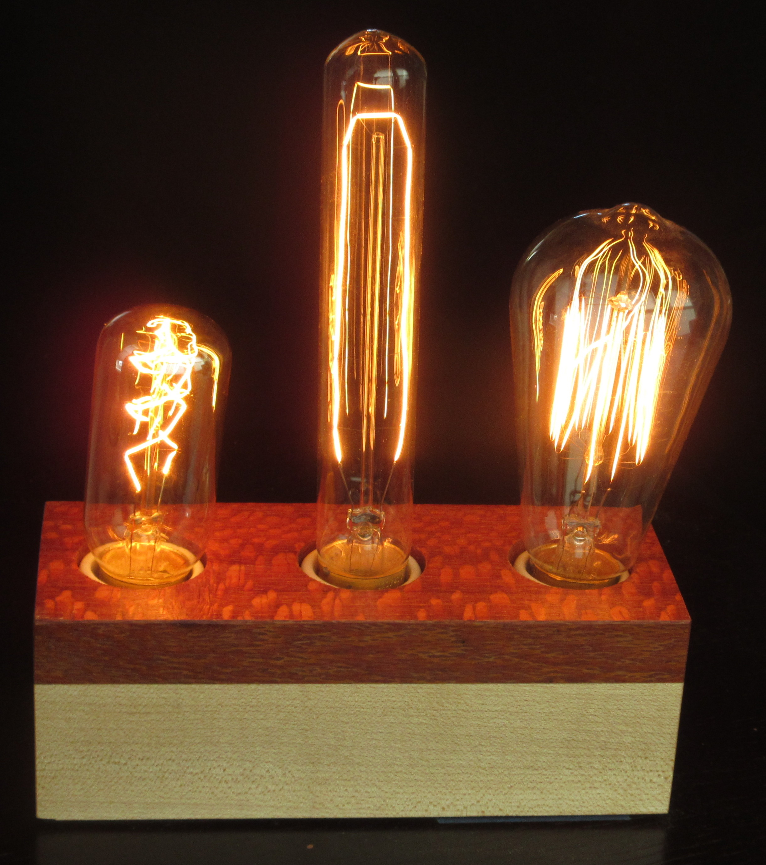 Lacewood and Maple - 3 lamps