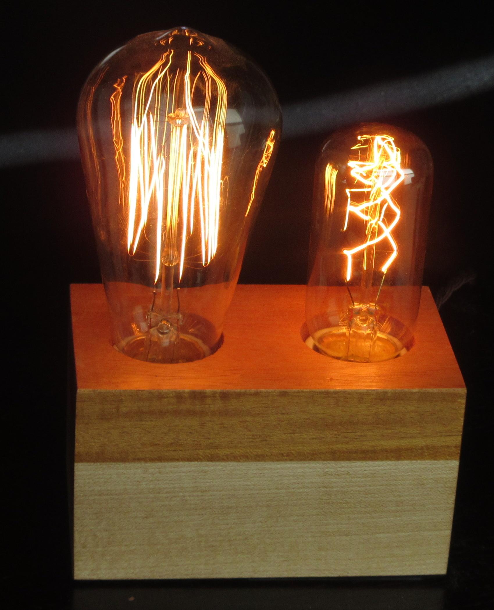 Mahogany and Maple - 2 lamps