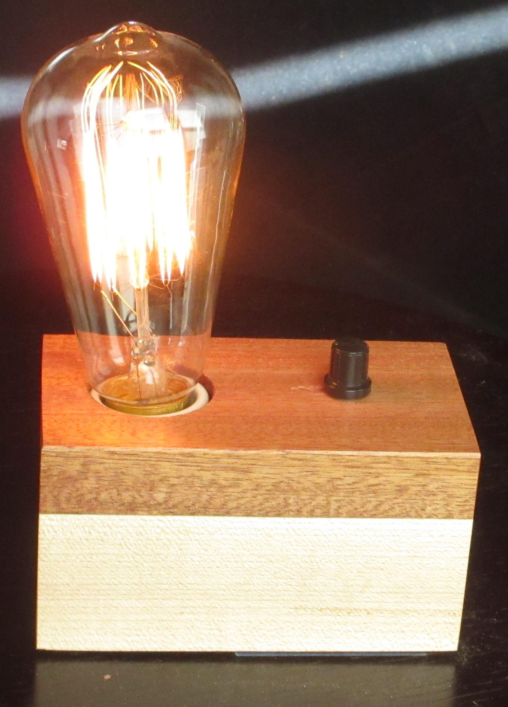 Sapele and Maple - 1 lamp