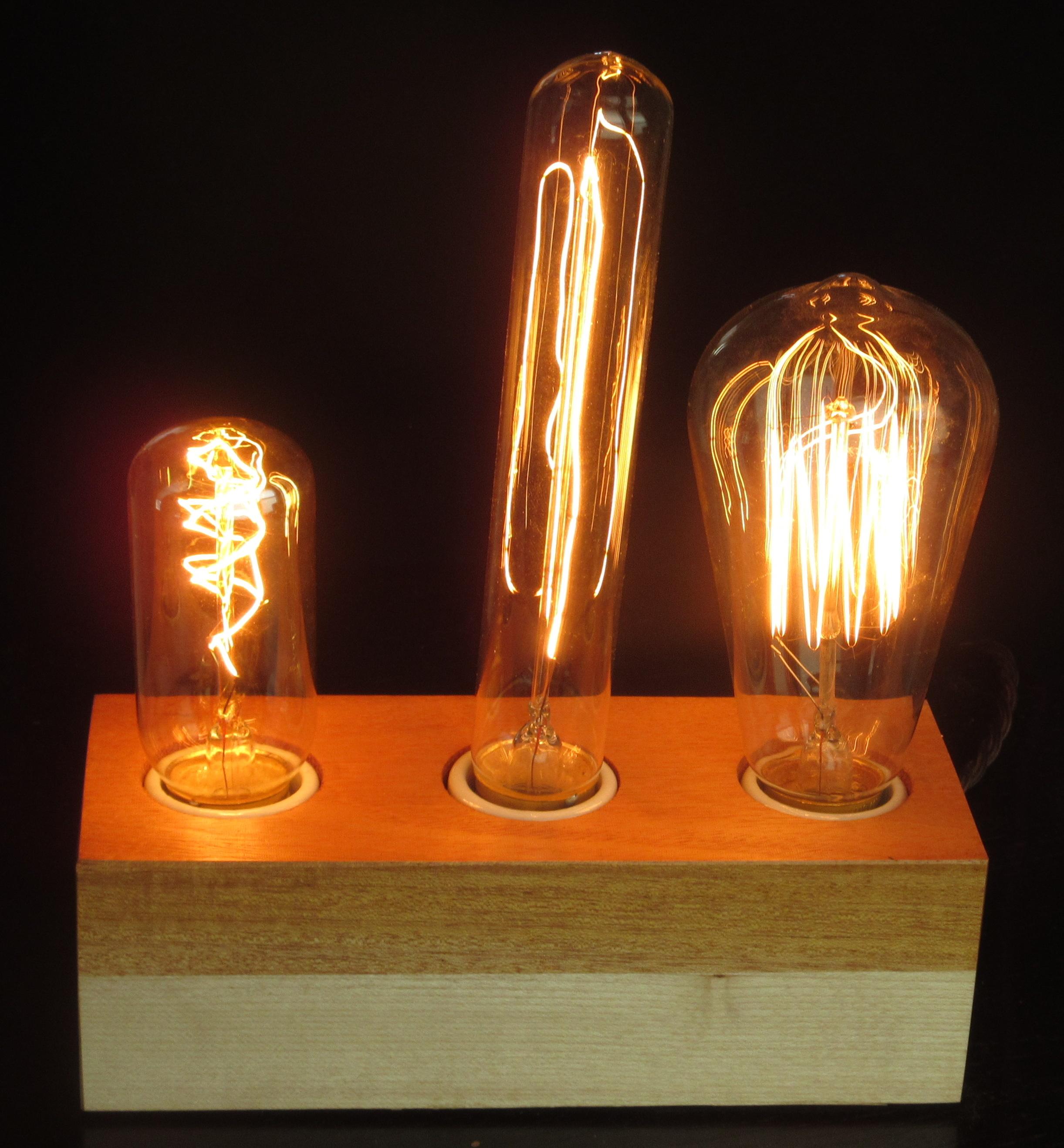 Mahogany and Maple - 3 lamps