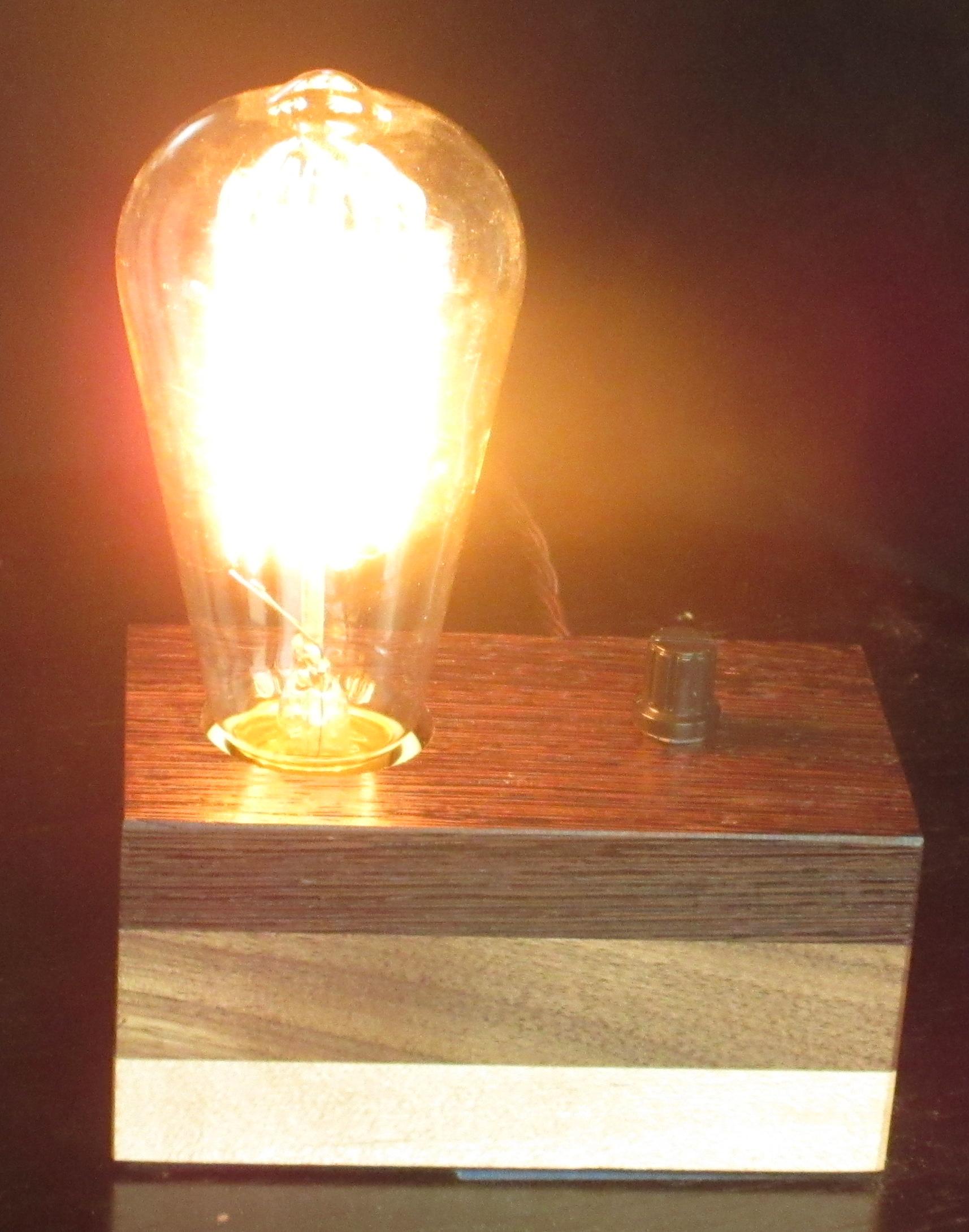 Wenge, Walnut, & Maple - 1 lamp