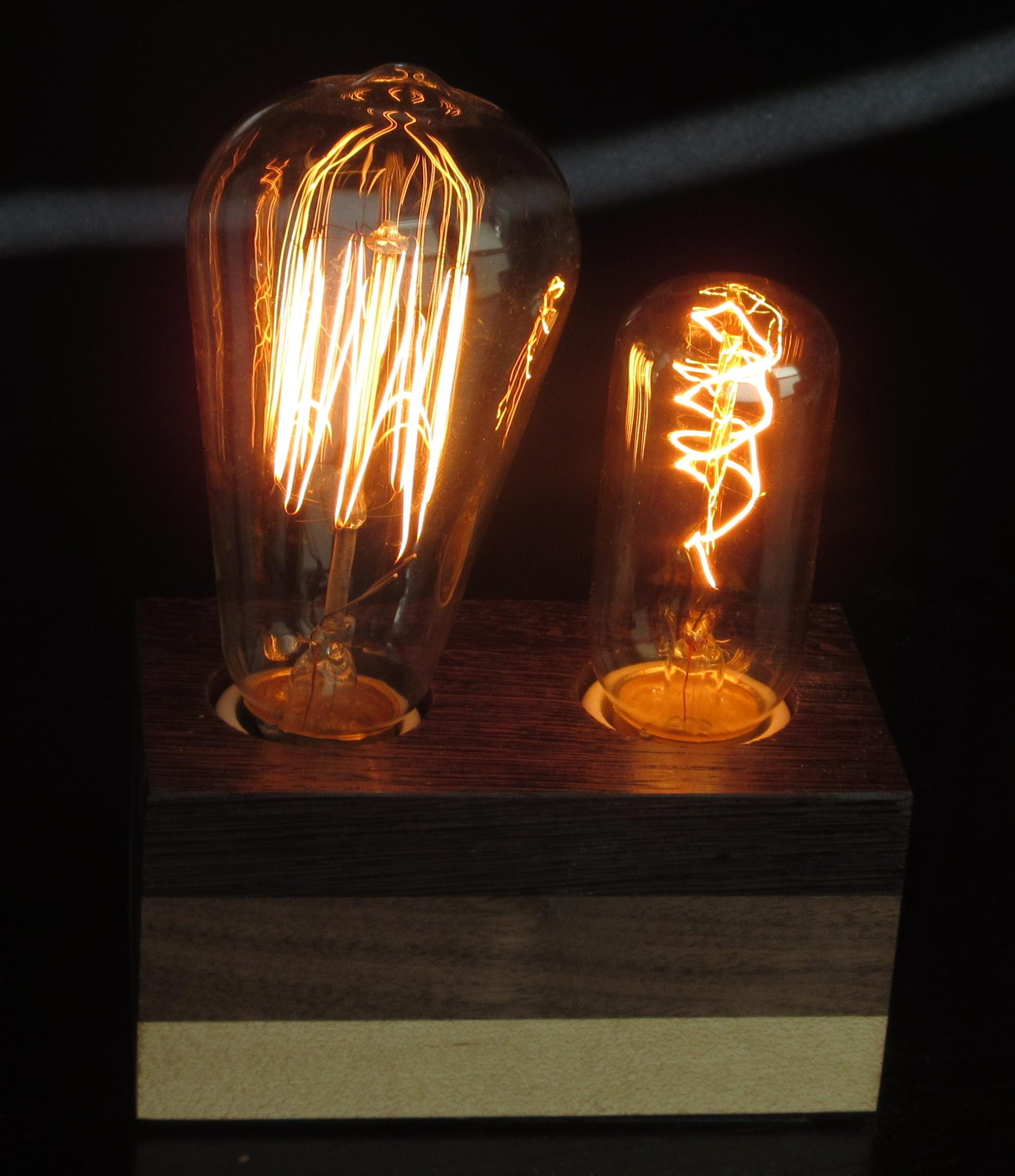 Wenge, Walnut, & Maple - 2 lamps